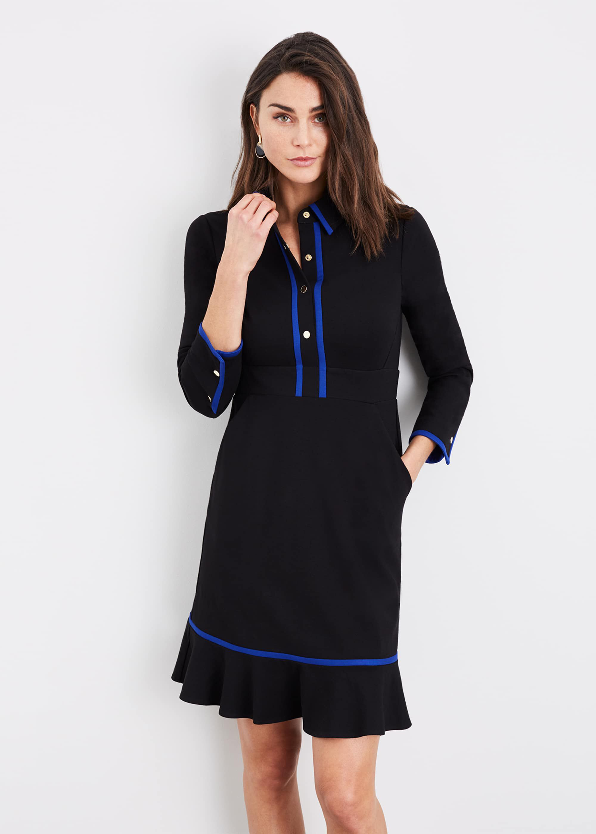 Damsel in a Dress Natalya Colourblock Dress, Black
