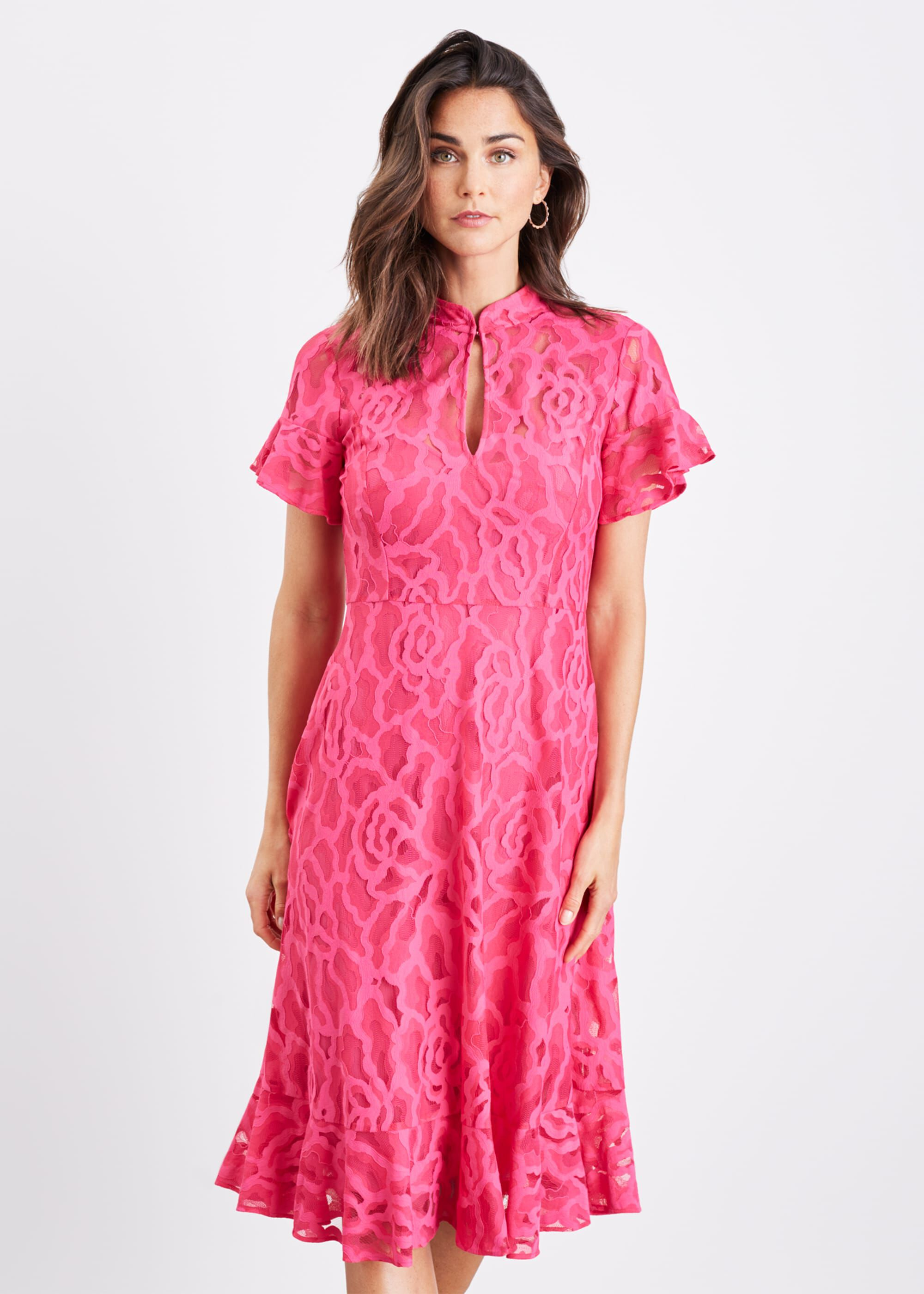 Damsel in a Dress Lulu Floral Lace Dress, Pink, Occasion Dress
