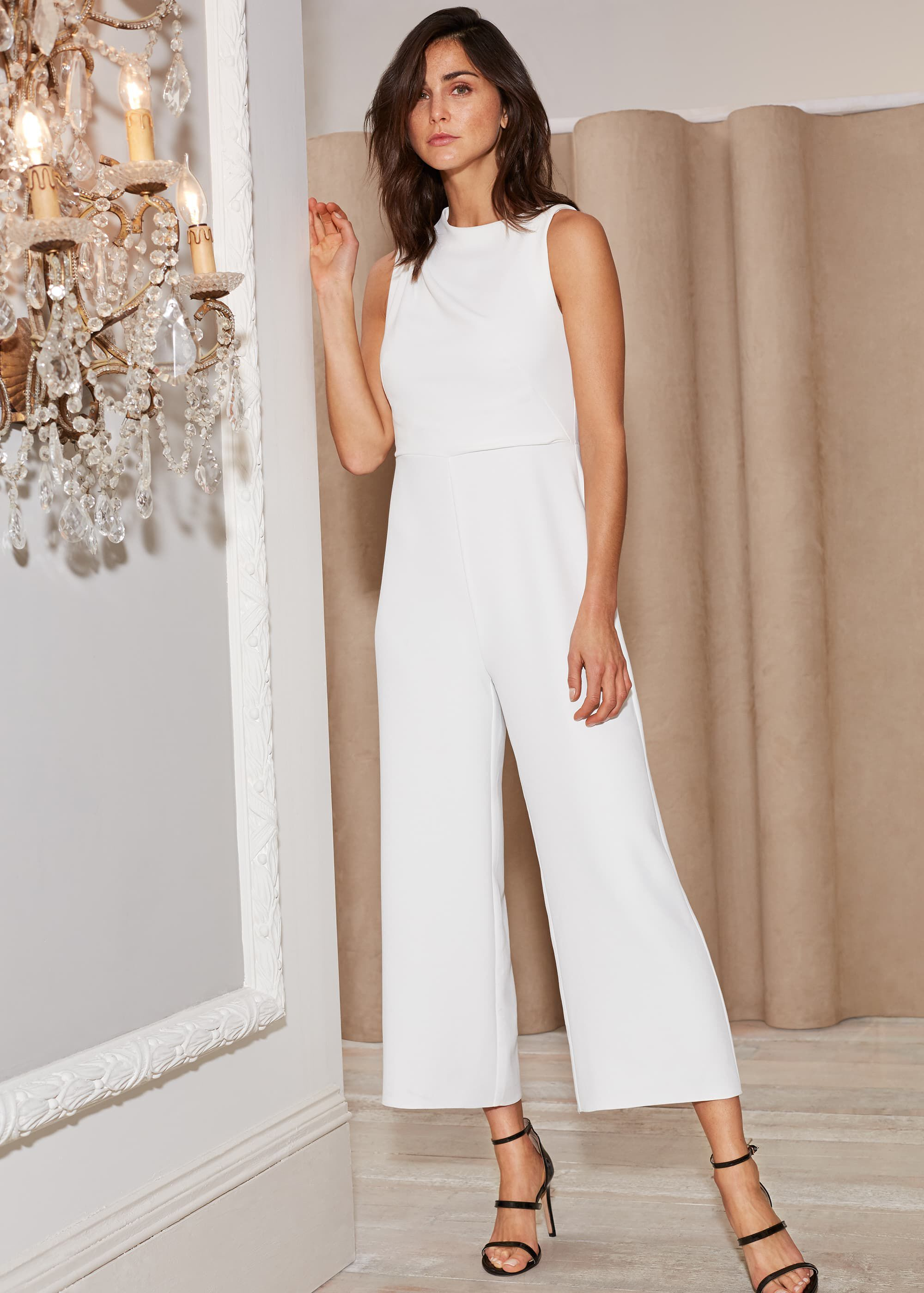 Damsel in a Dress Jovie Wide Leg Jumpsuit, White