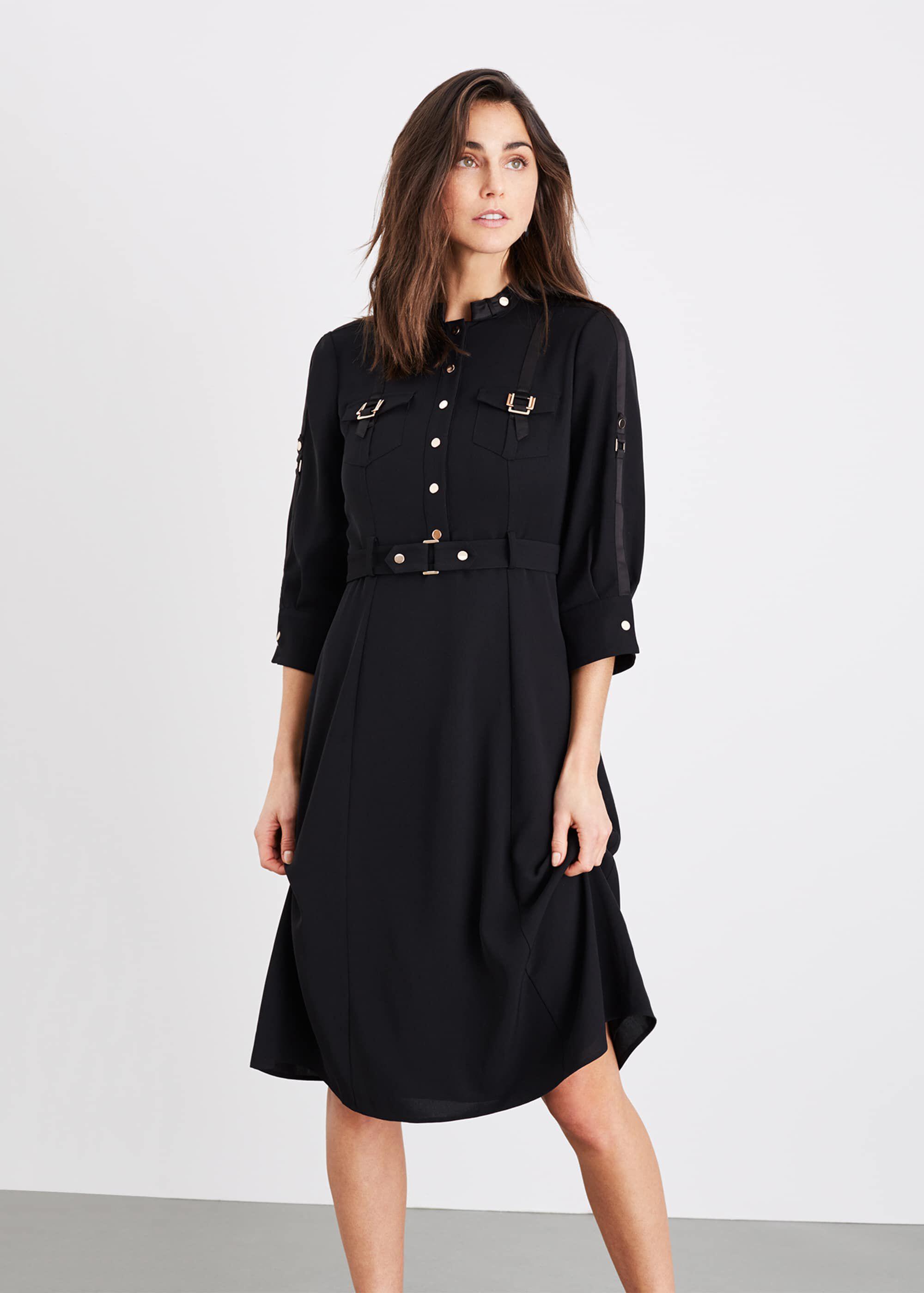 Damsel in a Dress Liberty Trench Dress, Black