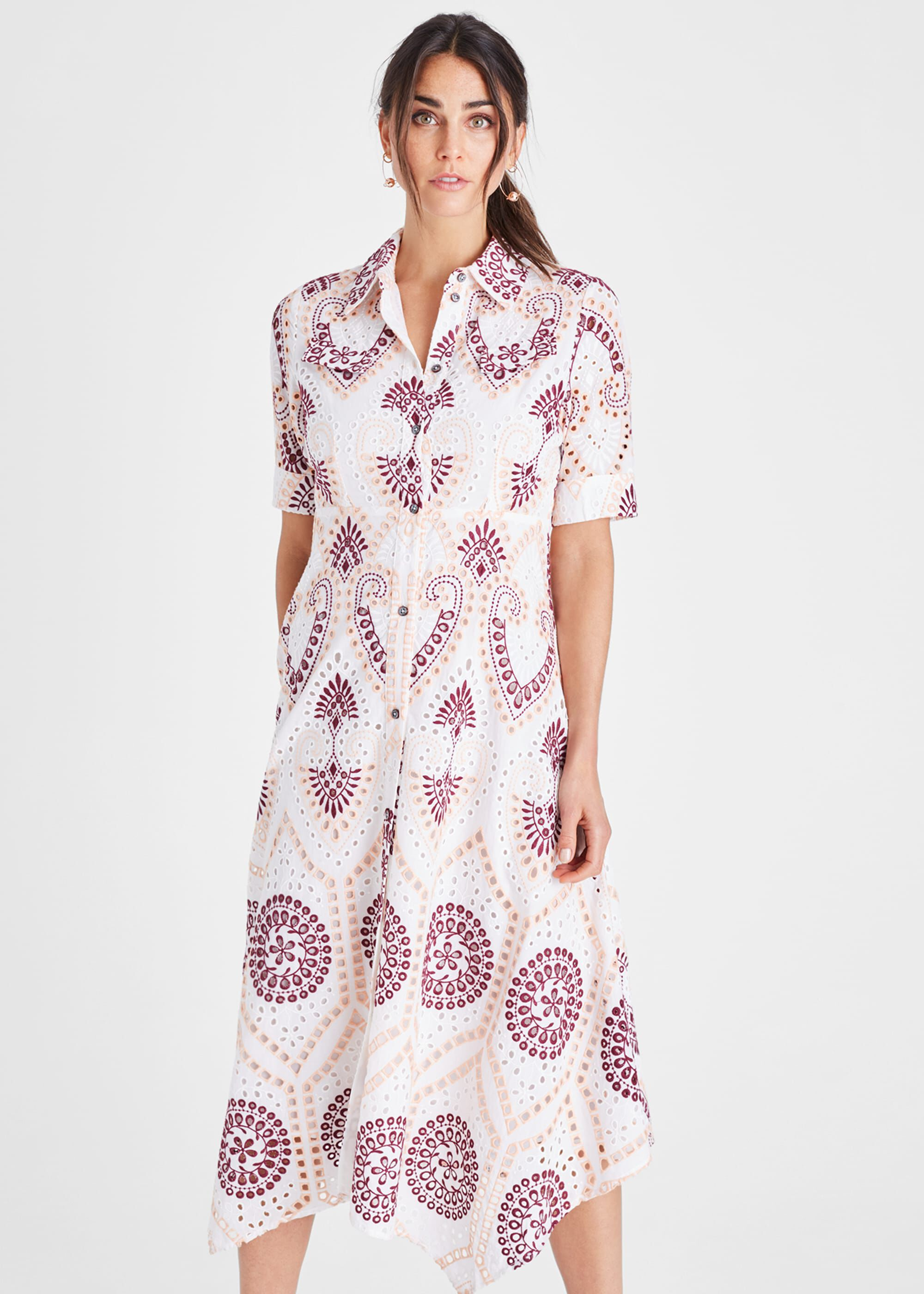 Damsel in a Dress Kaylor Embroidered Shirt Dress, Multicoloured