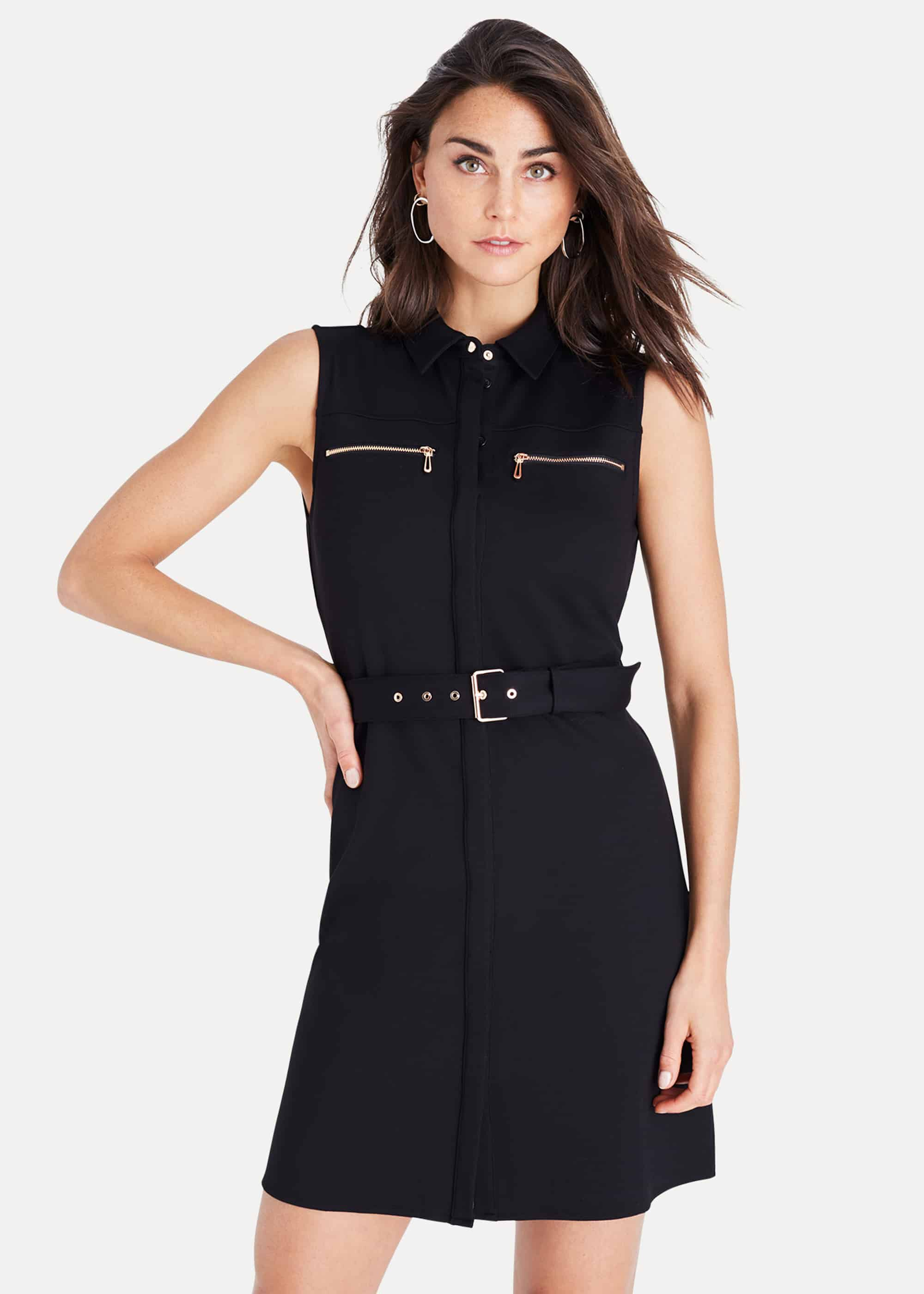 Damsel in a Dress Isidore Sleeveless Dress, Black