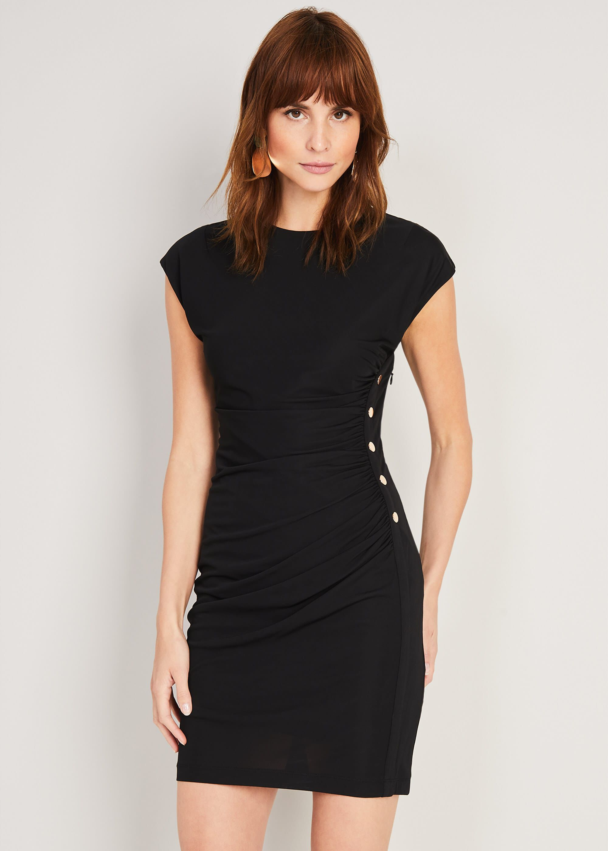 Damsel in a Dress Kimi Stud Jersey Dress, Black, Occasion Dress