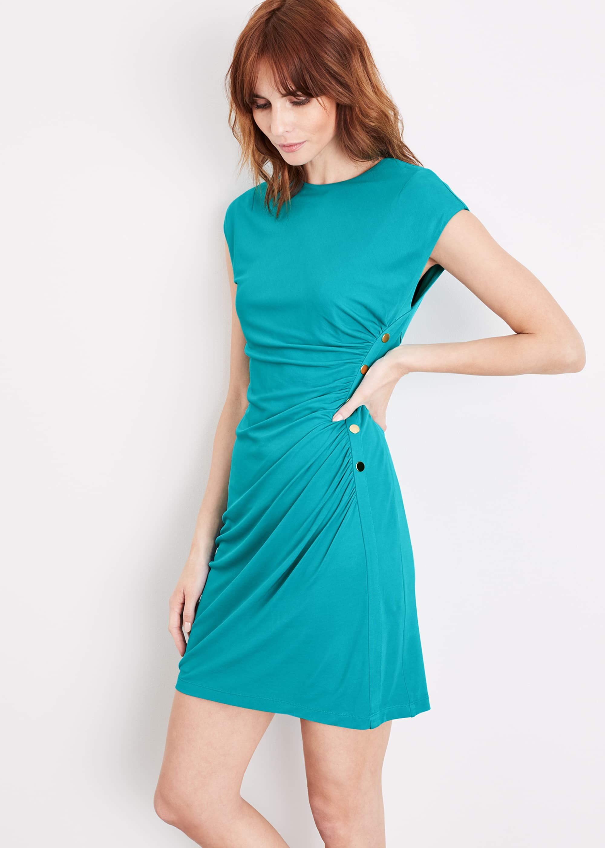 Damsel in a Dress Kimi Stud Jersey Dress, Blue, Occasion Dress
