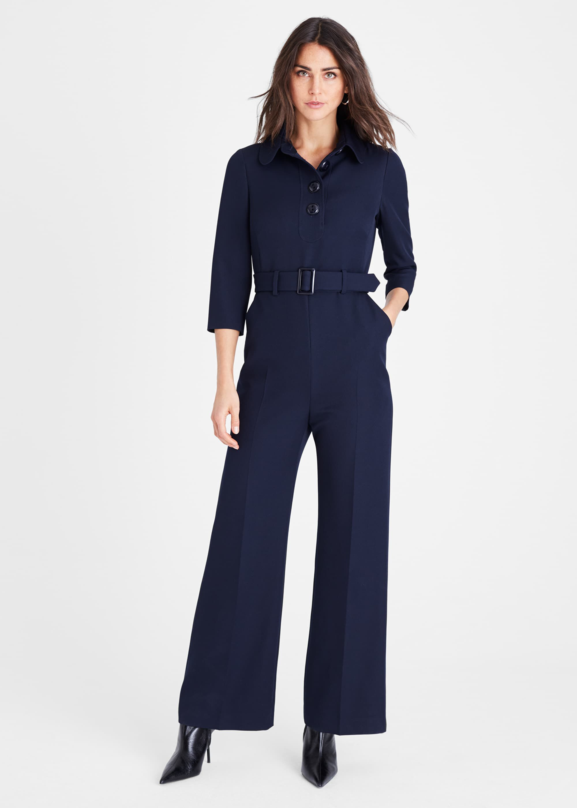 Damsel in a Dress Adie Button Jumpsuit, Blue
