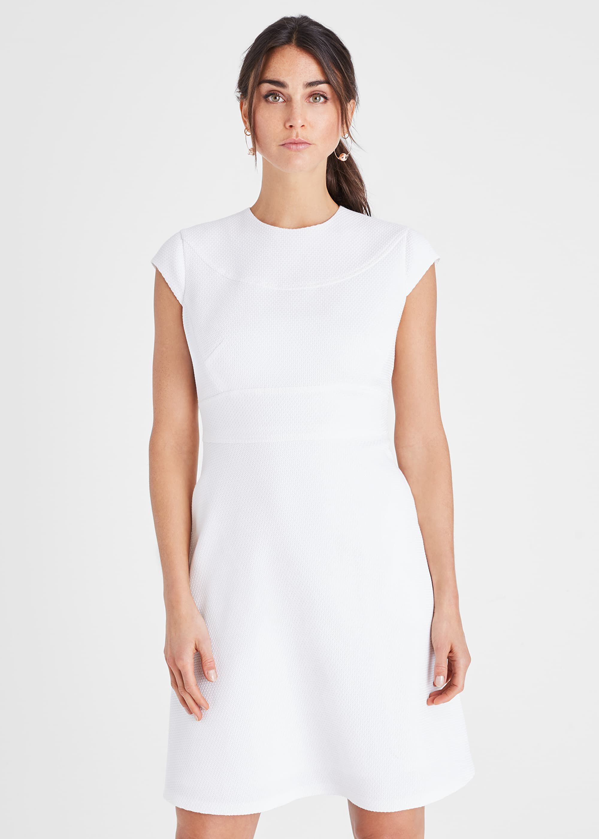 Damsel in a Dress Norika Textured Dress, White