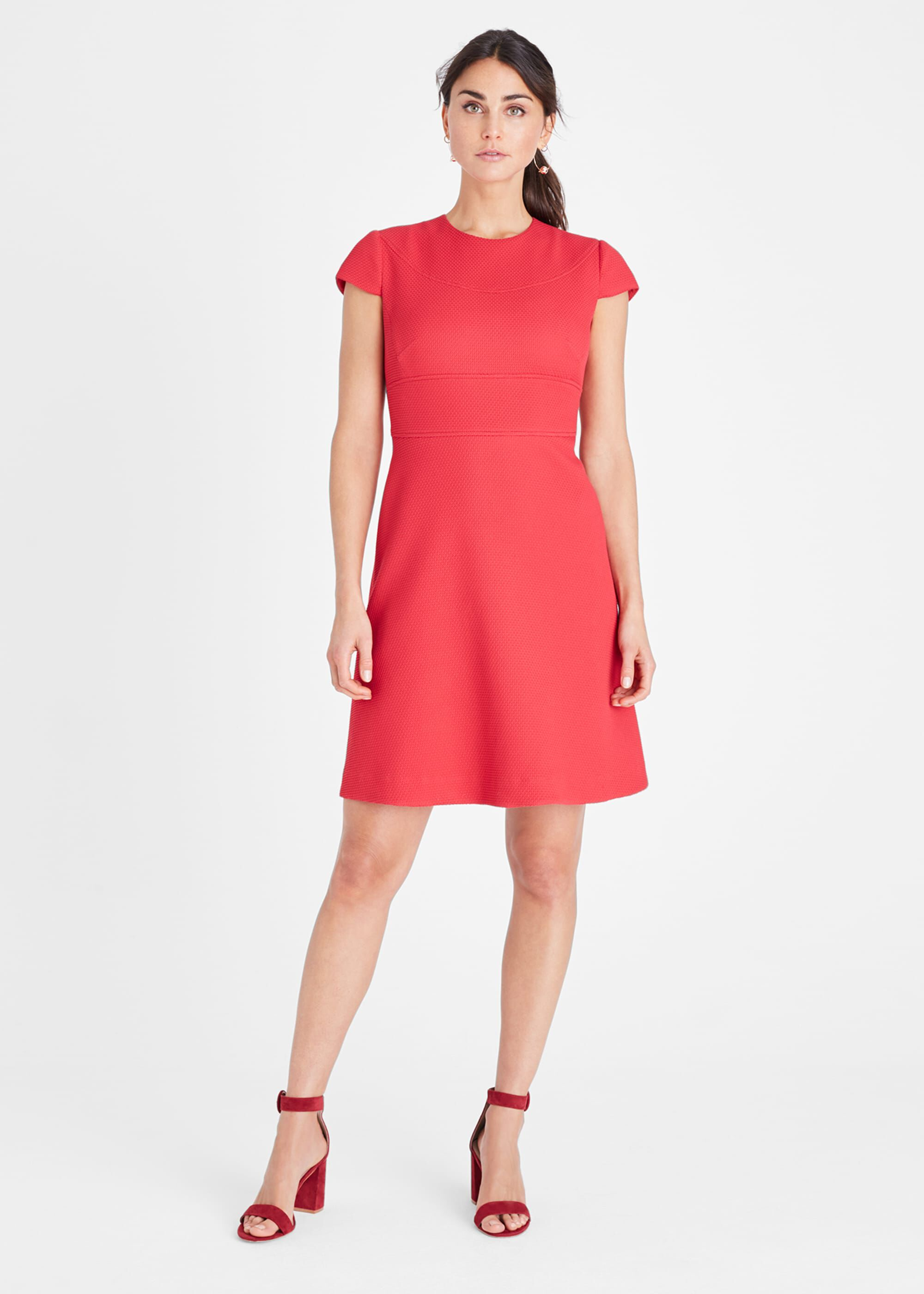 Damsel in a Dress Norika Textured Dress, Pink