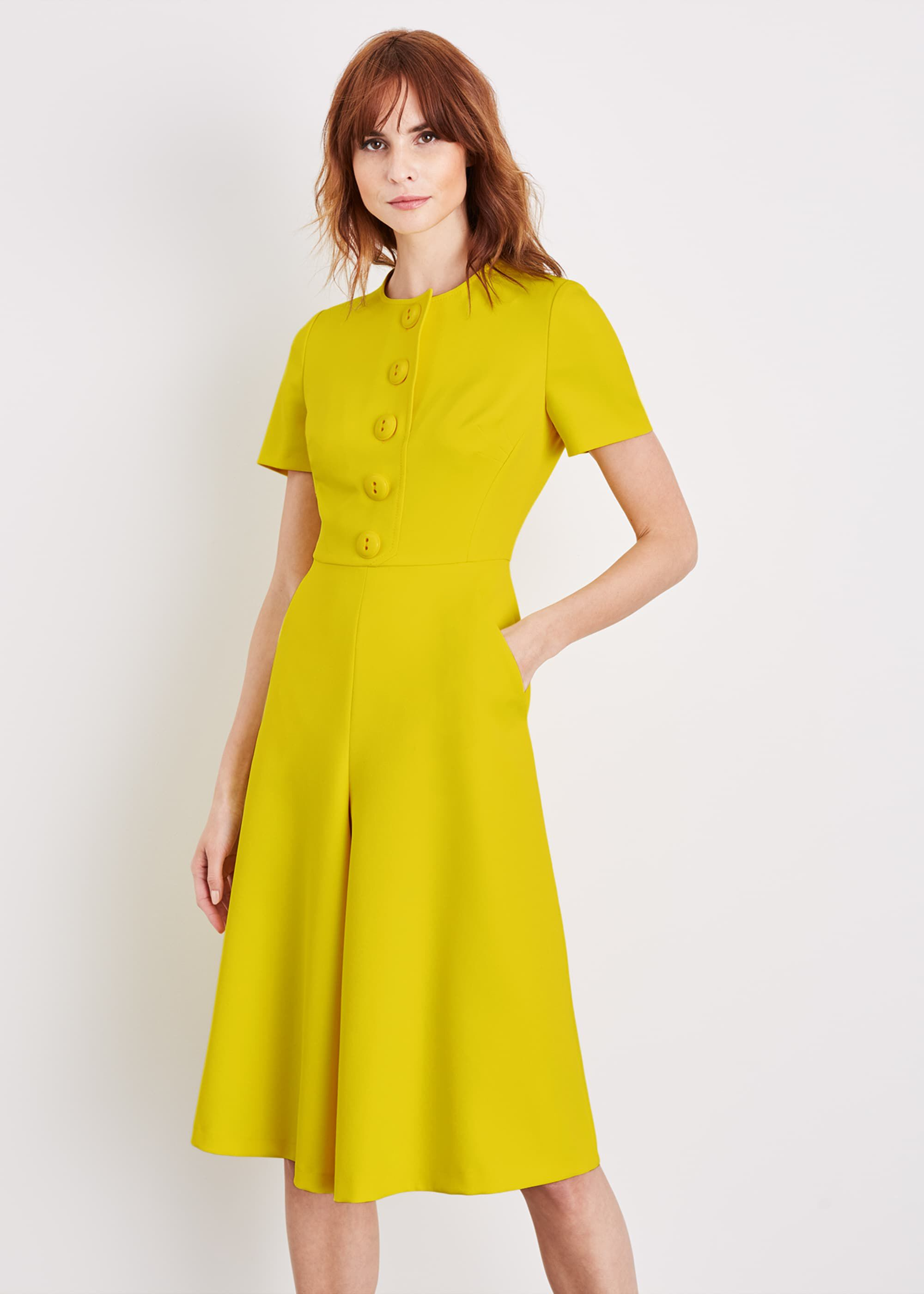 Damsel in a Dress Hilaria Culotte Jumpsuit, Yellow