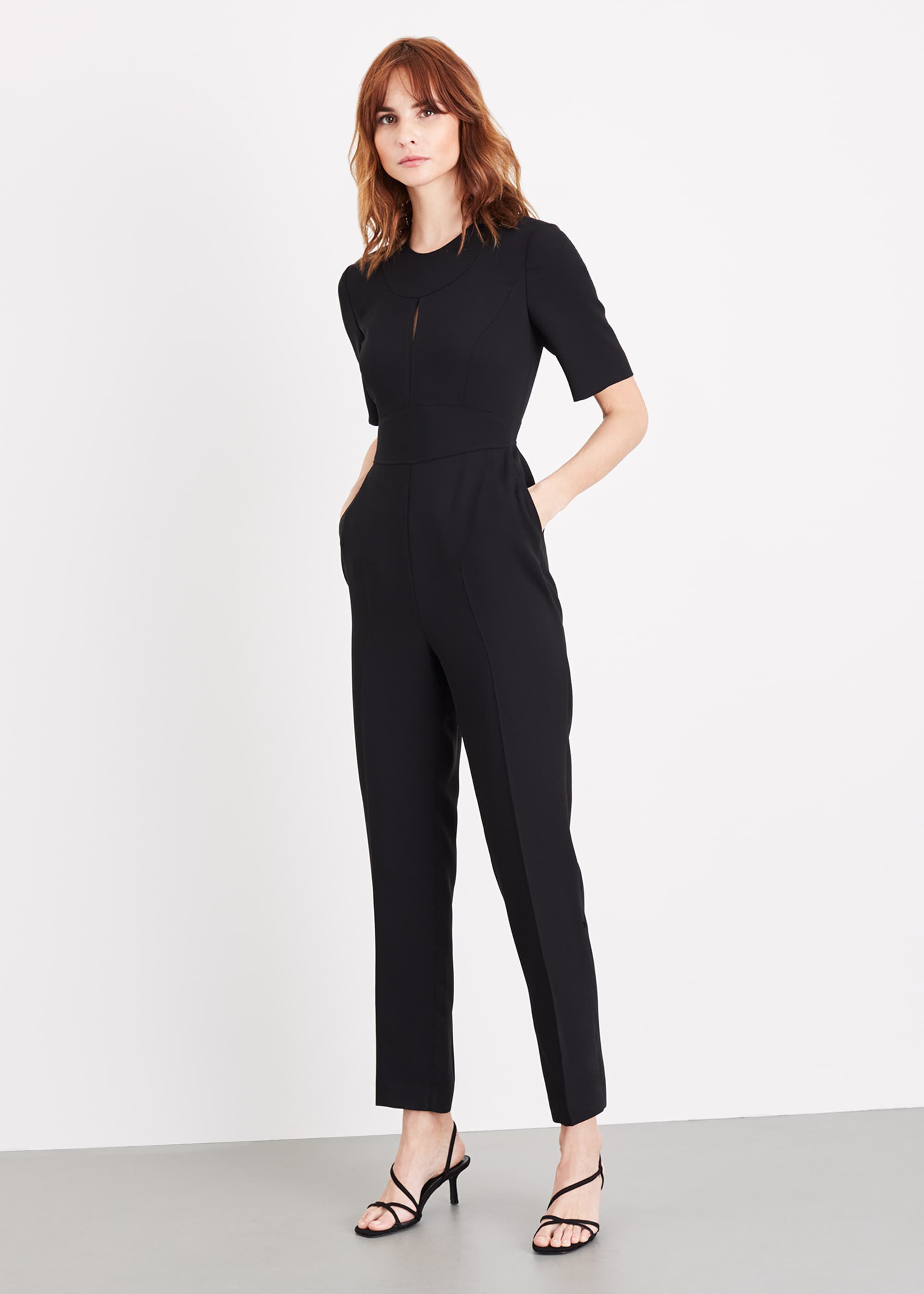 Damsel in a Dress Nina City Suit Jumpsuit, Black