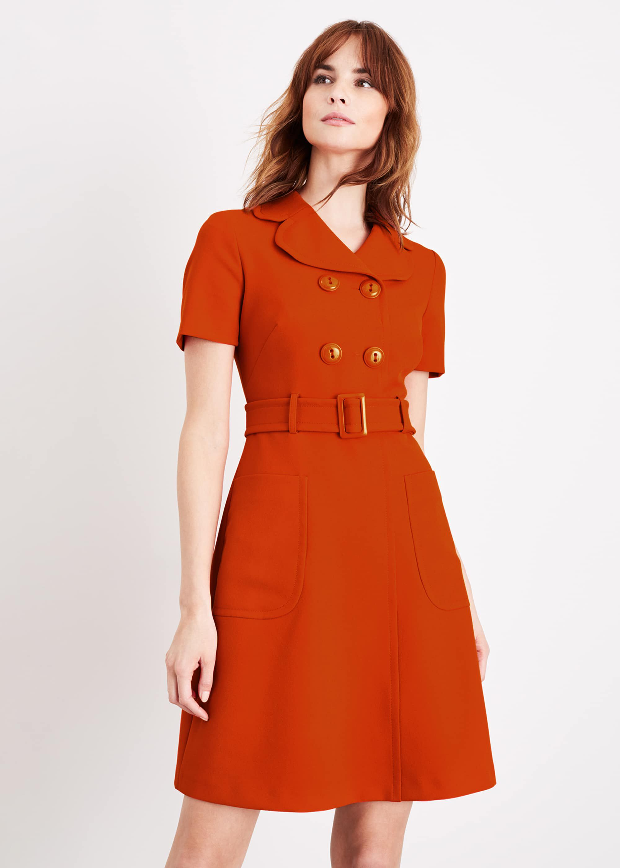 Damsel in a Dress Renu Button Dress, Orange