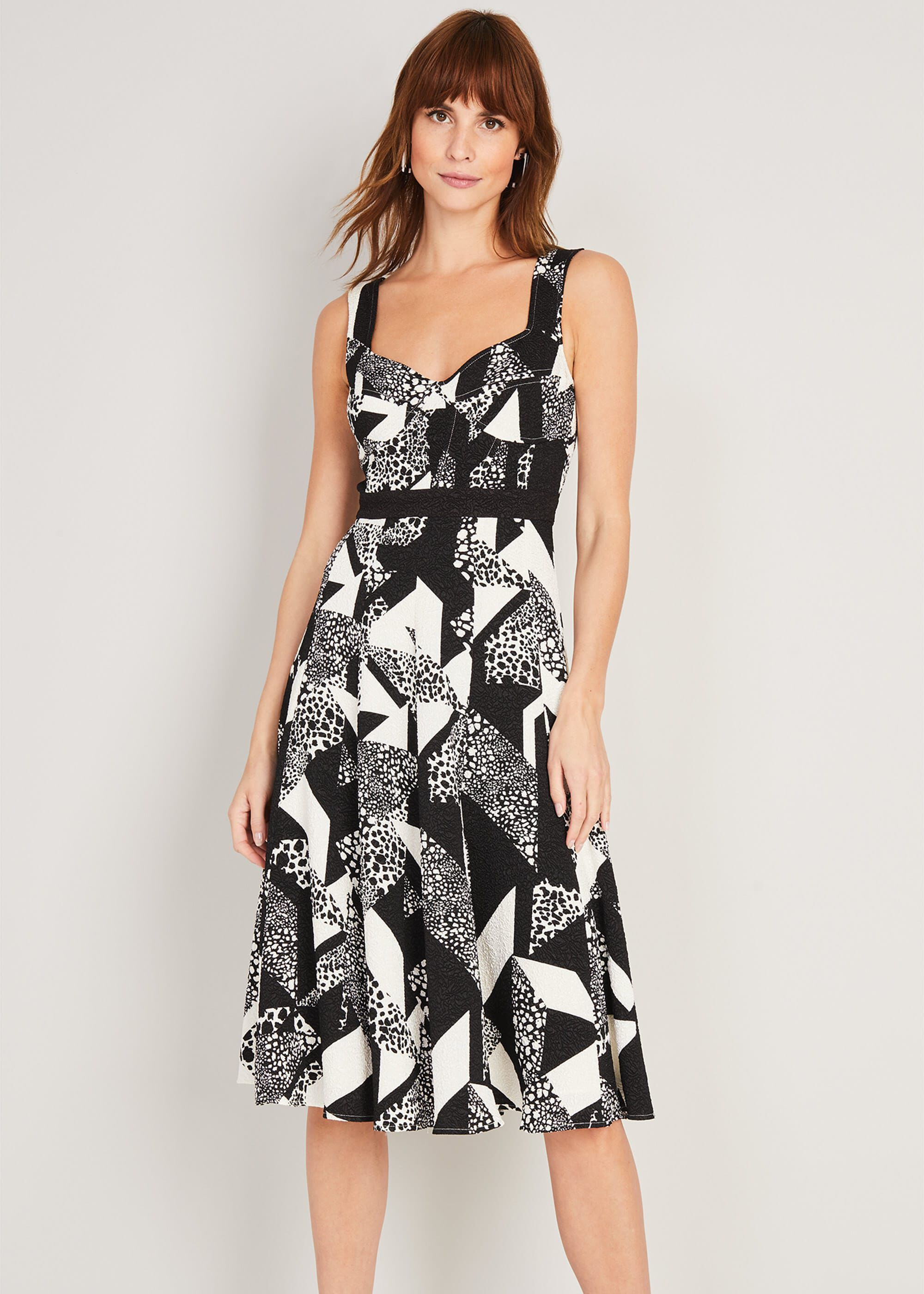 Damsel in a Dress Zayna Printed Dress, Black, Occasion Dress