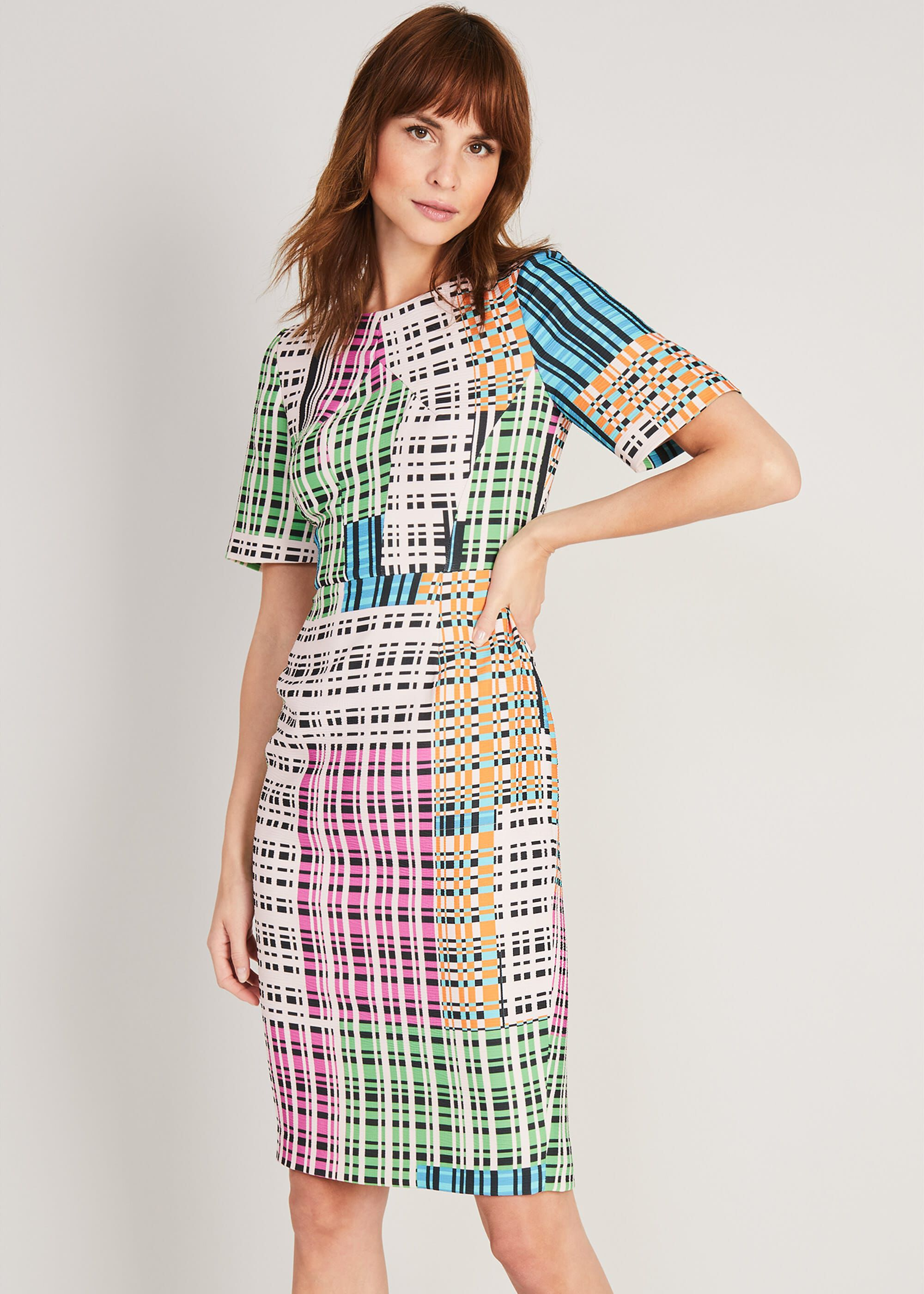Damsel in a Dress Libbie Textured Printed Dress, Multicoloured