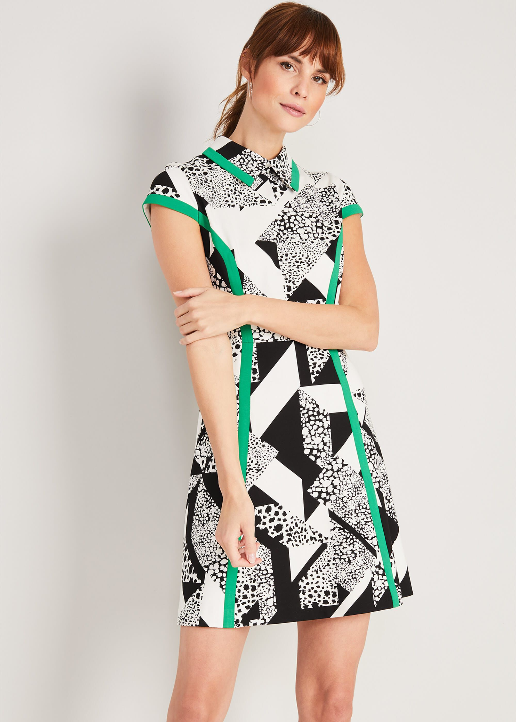 Damsel in a Dress Jamie-Lynn Printed Dress, Black