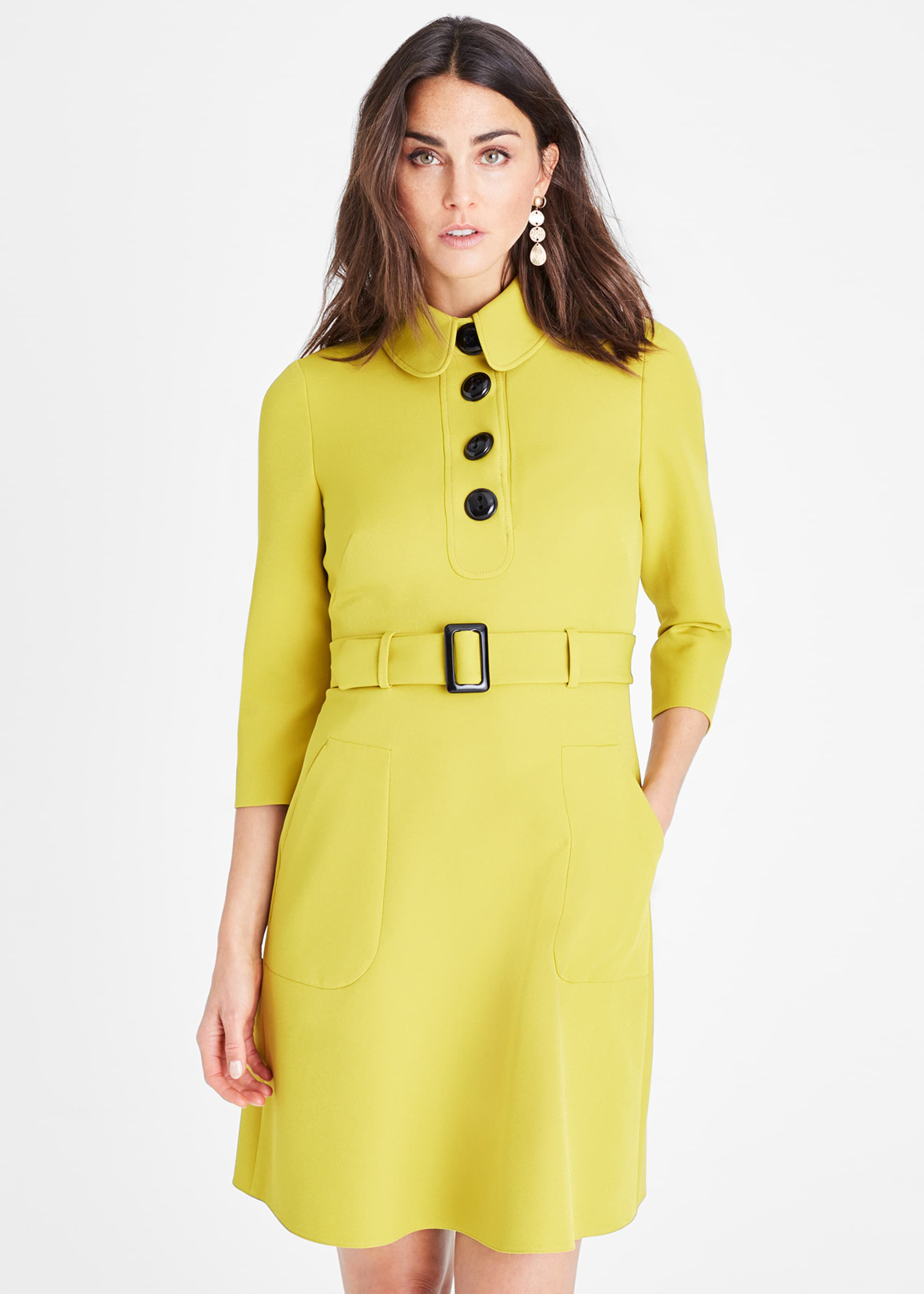 Damsel in a Dress Adie Button Detail Dress, Yellow
