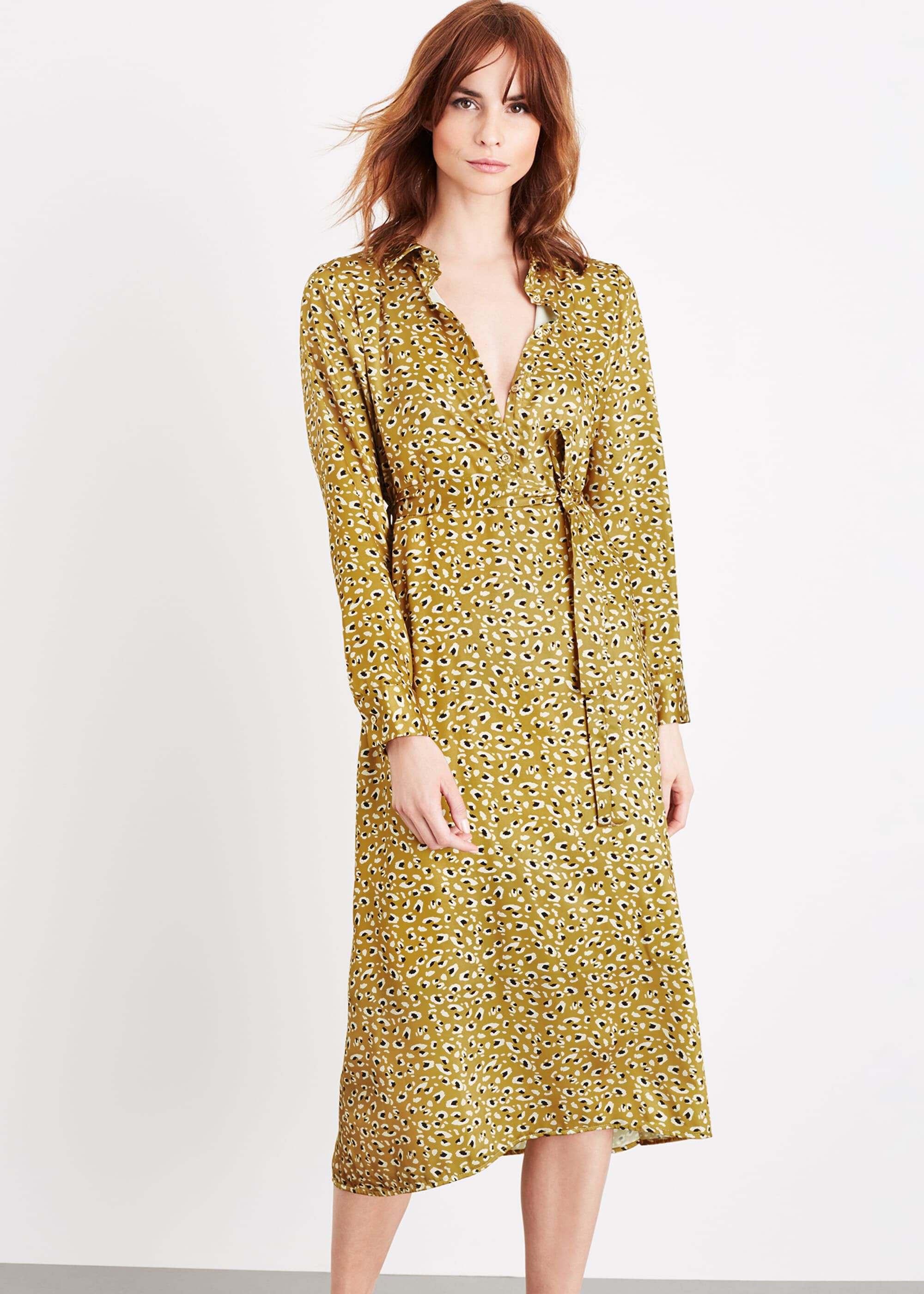 Damsel in a Dress Ulrika Leopard Dress, Yellow