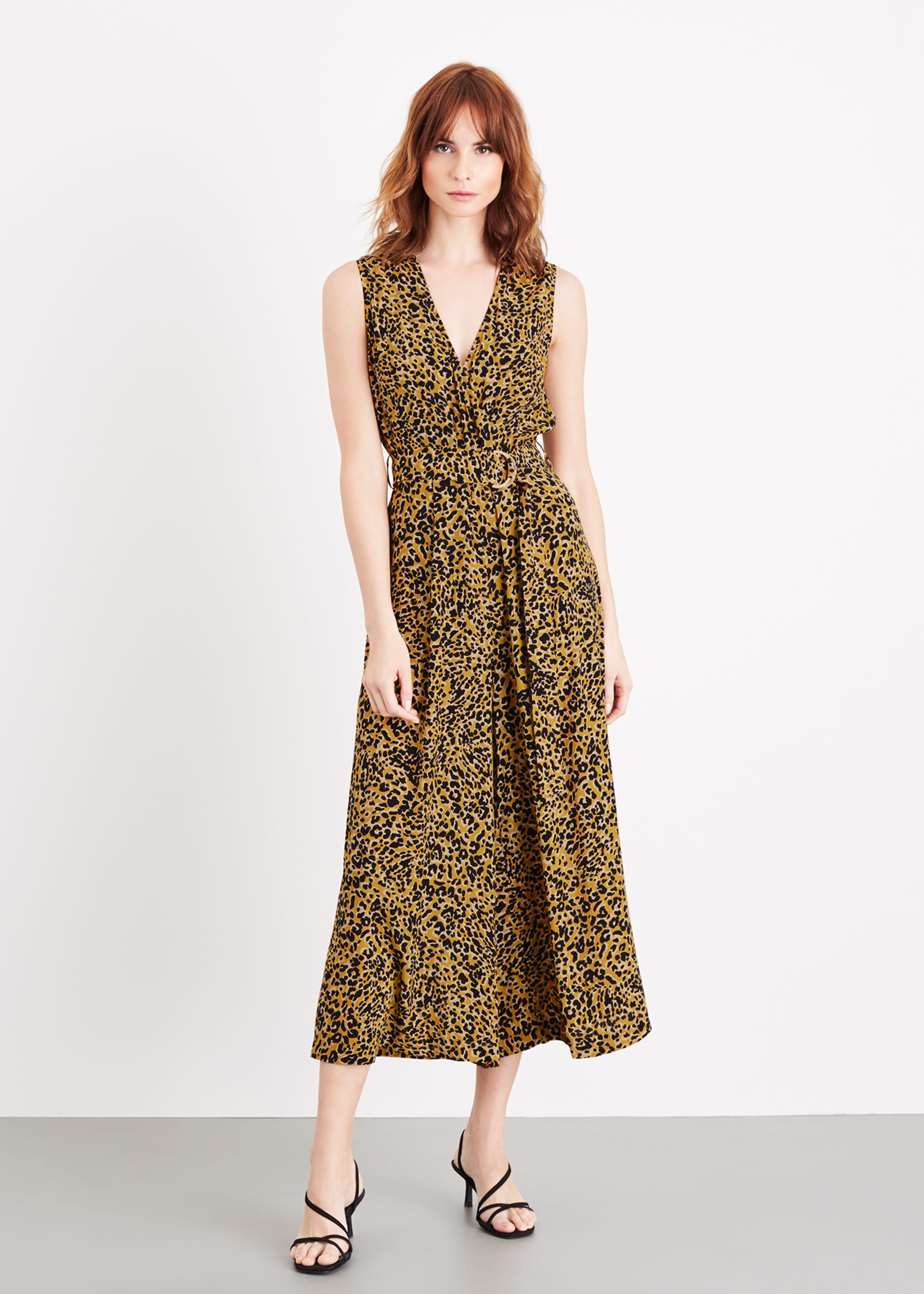 Damsel in a Dress Damaris Leopard Jumpsuit, Yellow
