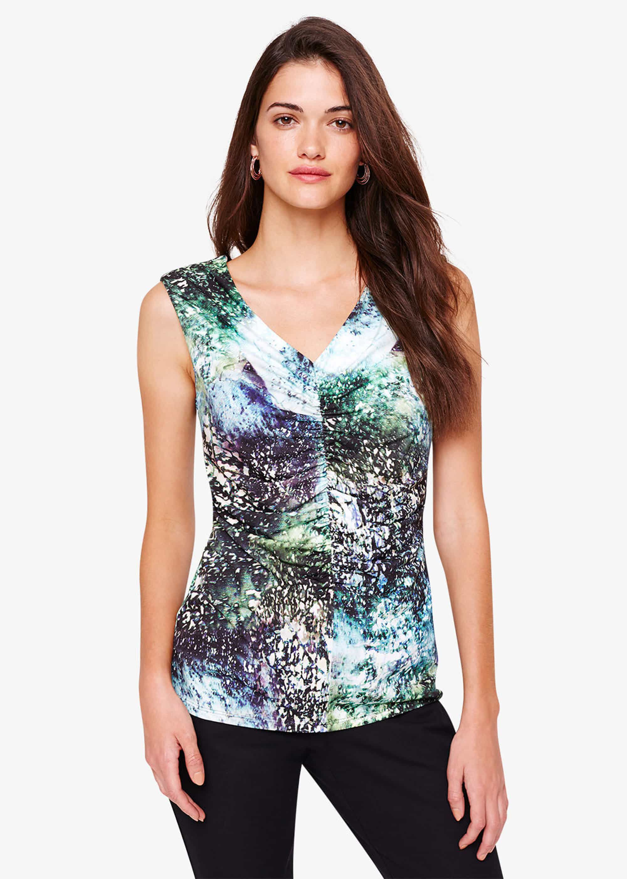 Damsel in a Dress Laurita Printed Jersey Top, Multicoloured
