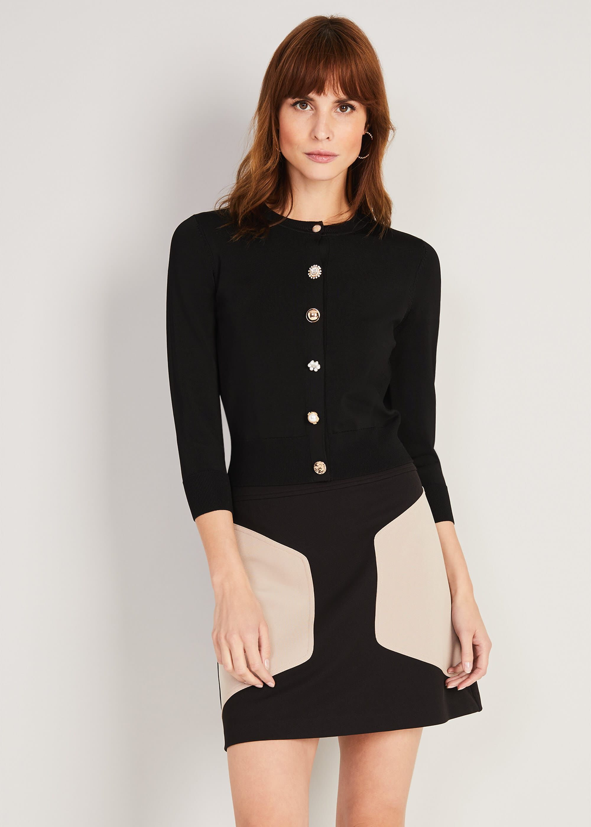 Damsel in a Dress Tianee Button Cardigan, Black