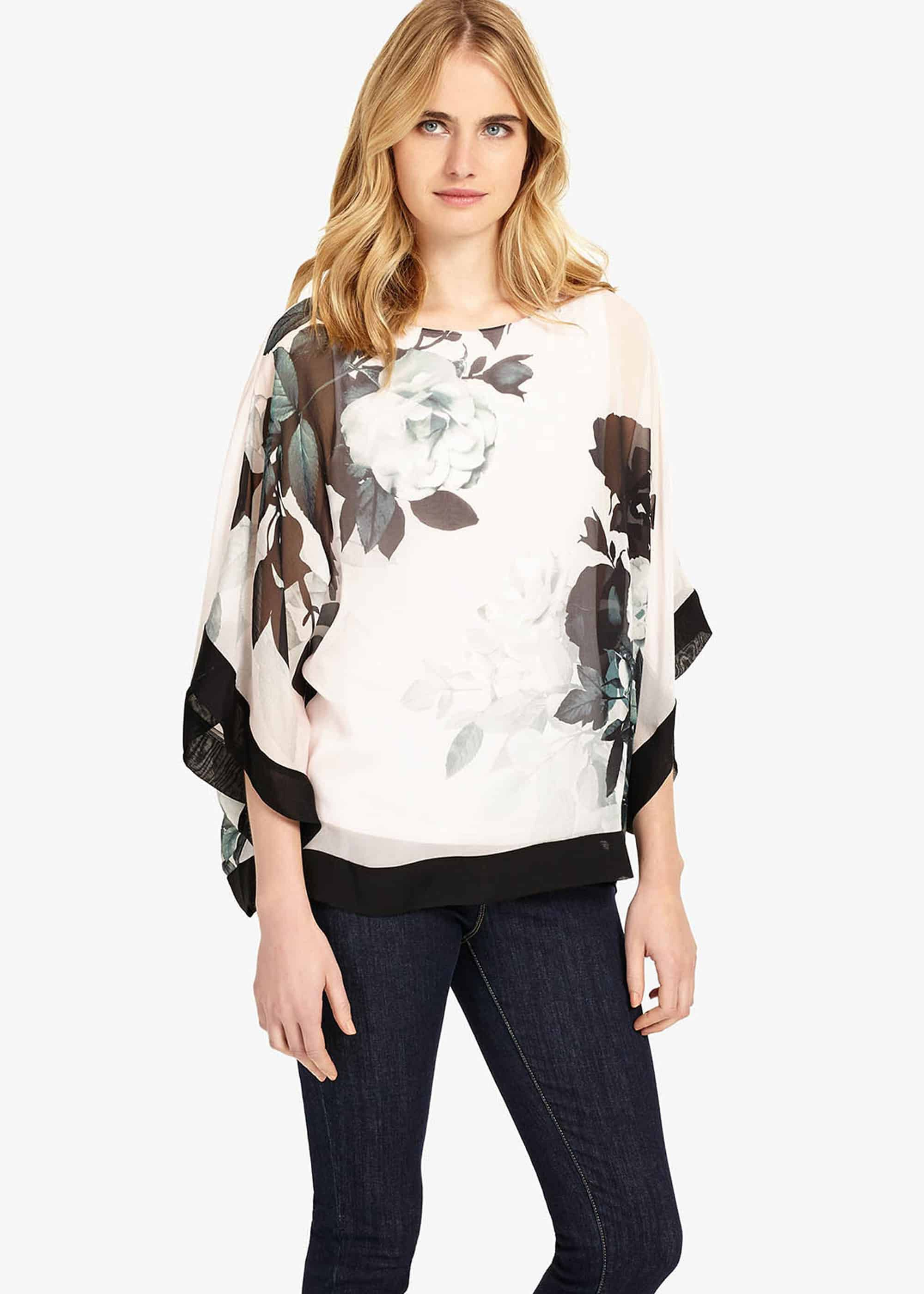 Phase Eight Anabelle Print Silk Blouse, Multicoloured, Blouse