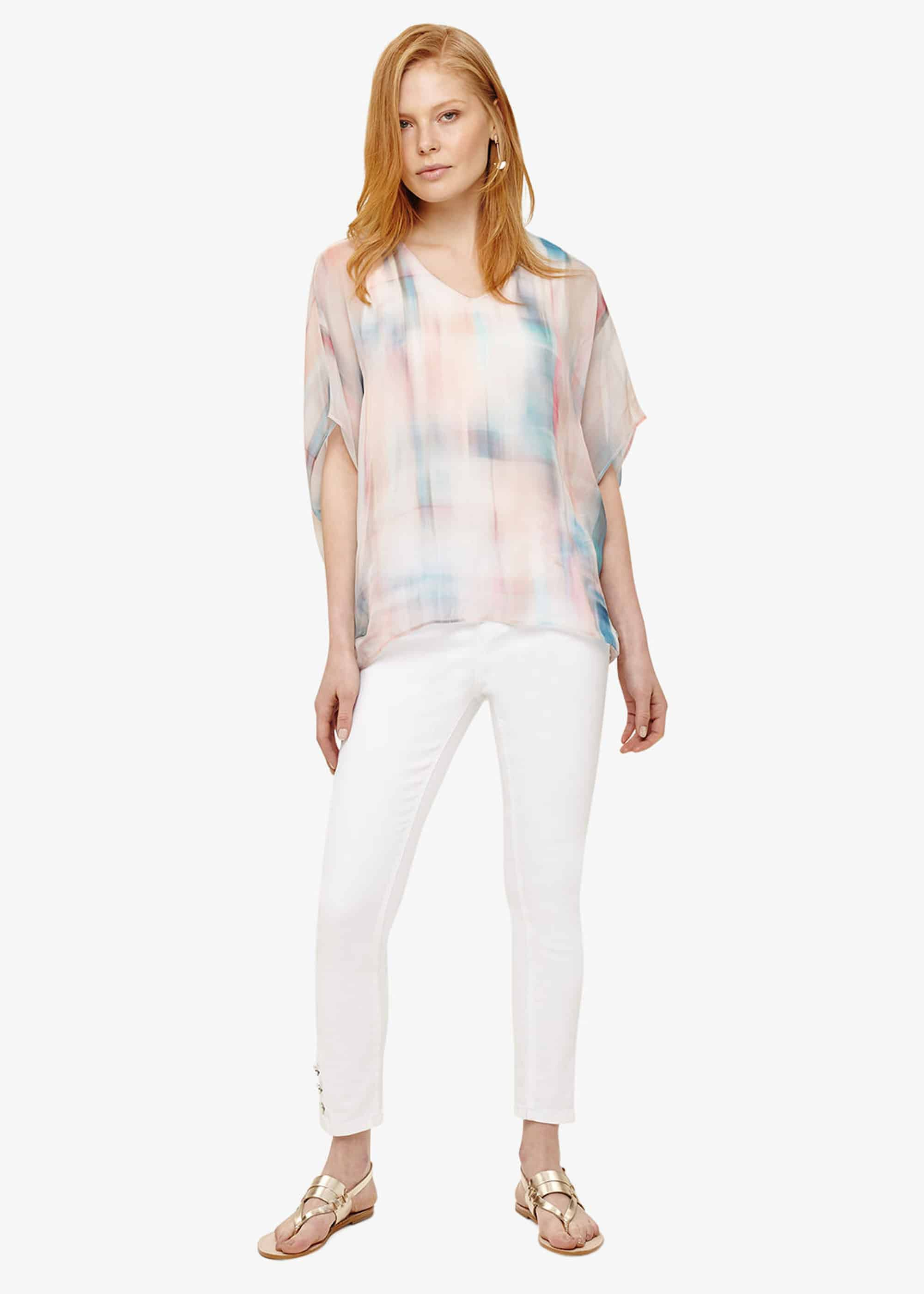 Phase Eight Gracie Silk Blouse, White, Blouse
