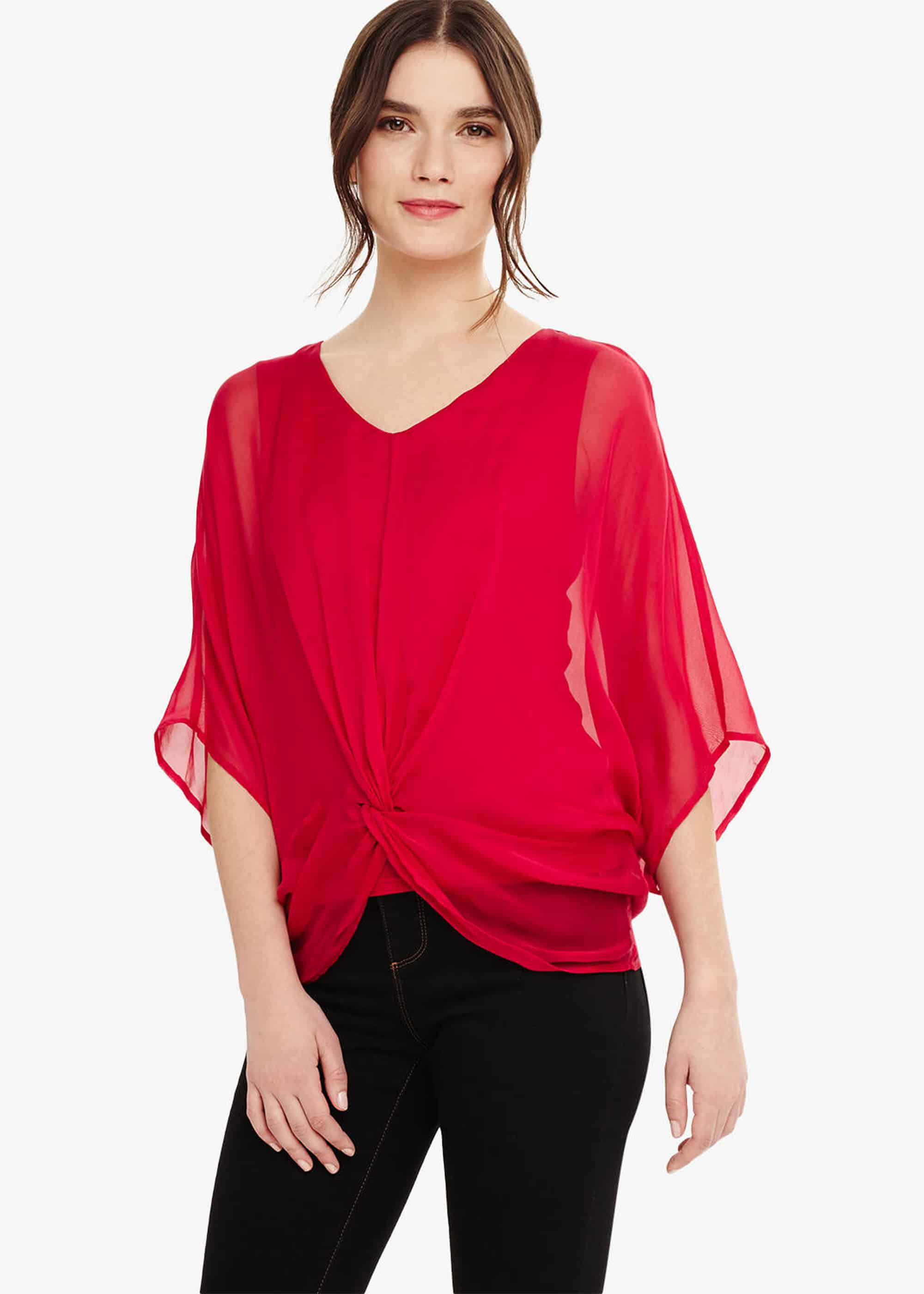 Phase Eight Adelle Silk Blouse, Pink, Blouse