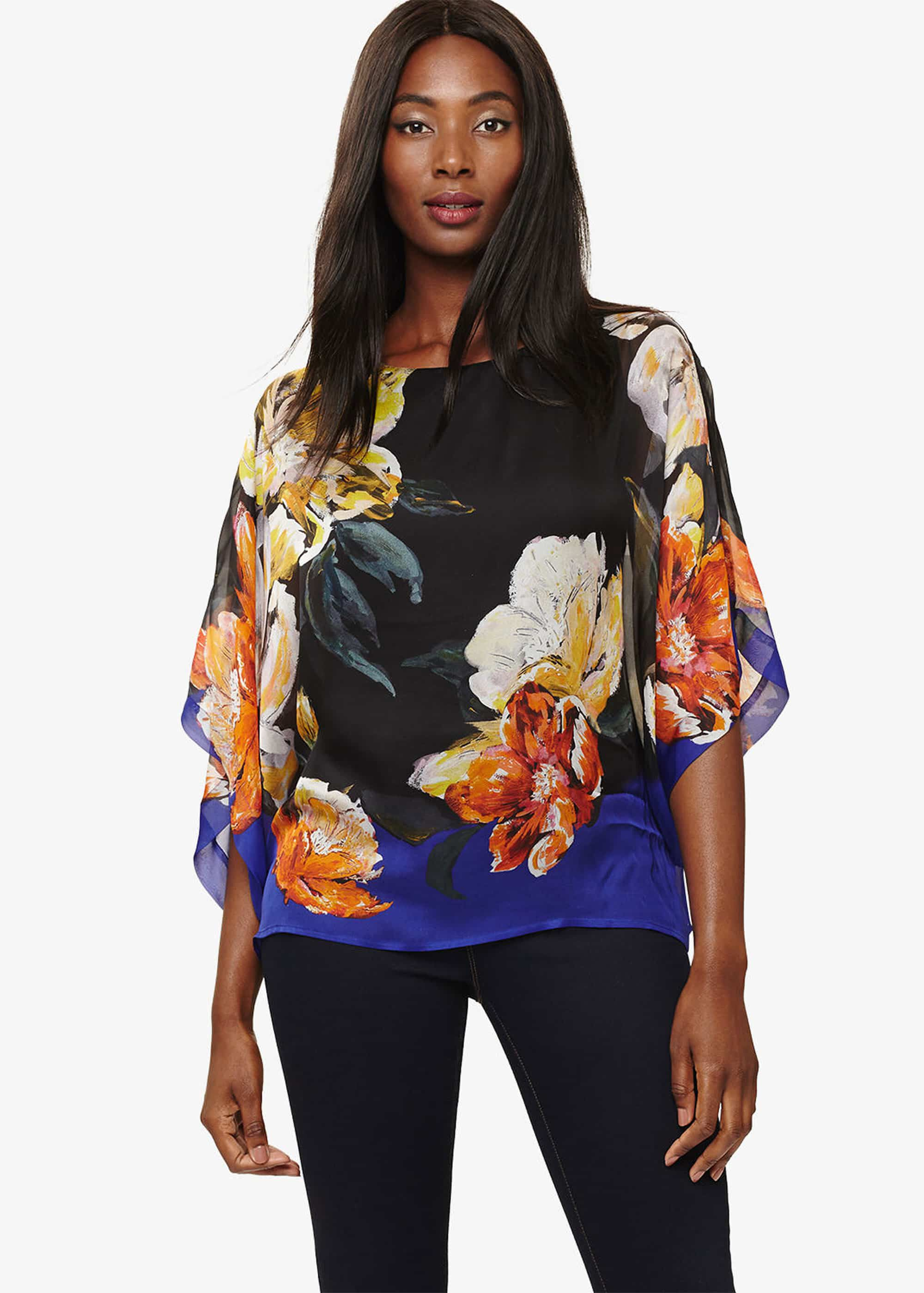 Phase Eight Elizabeth Silk Blouse, Multicoloured, Blouse