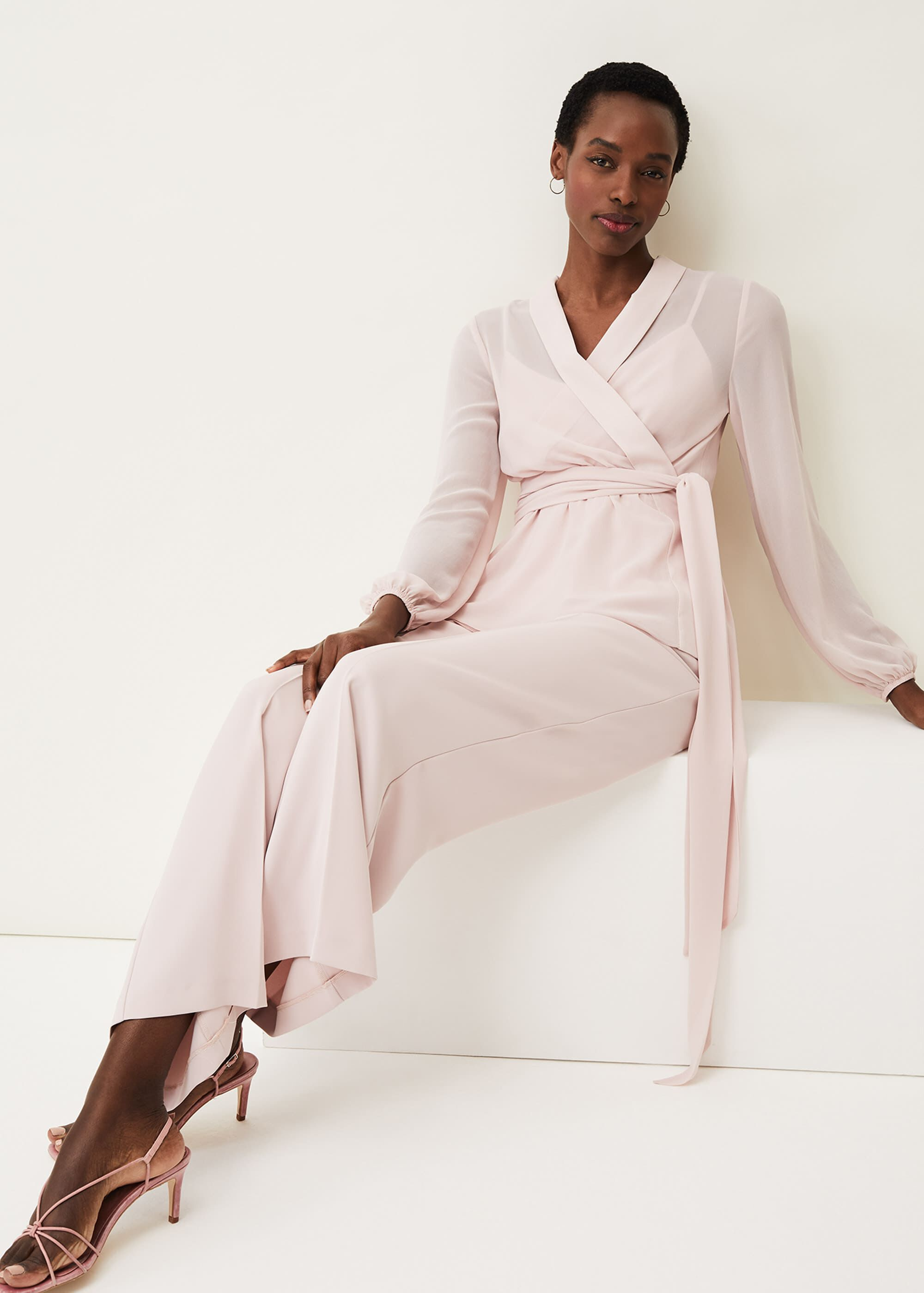 Phase Eight Florentine Co-Ord Top, Pink, Blouse