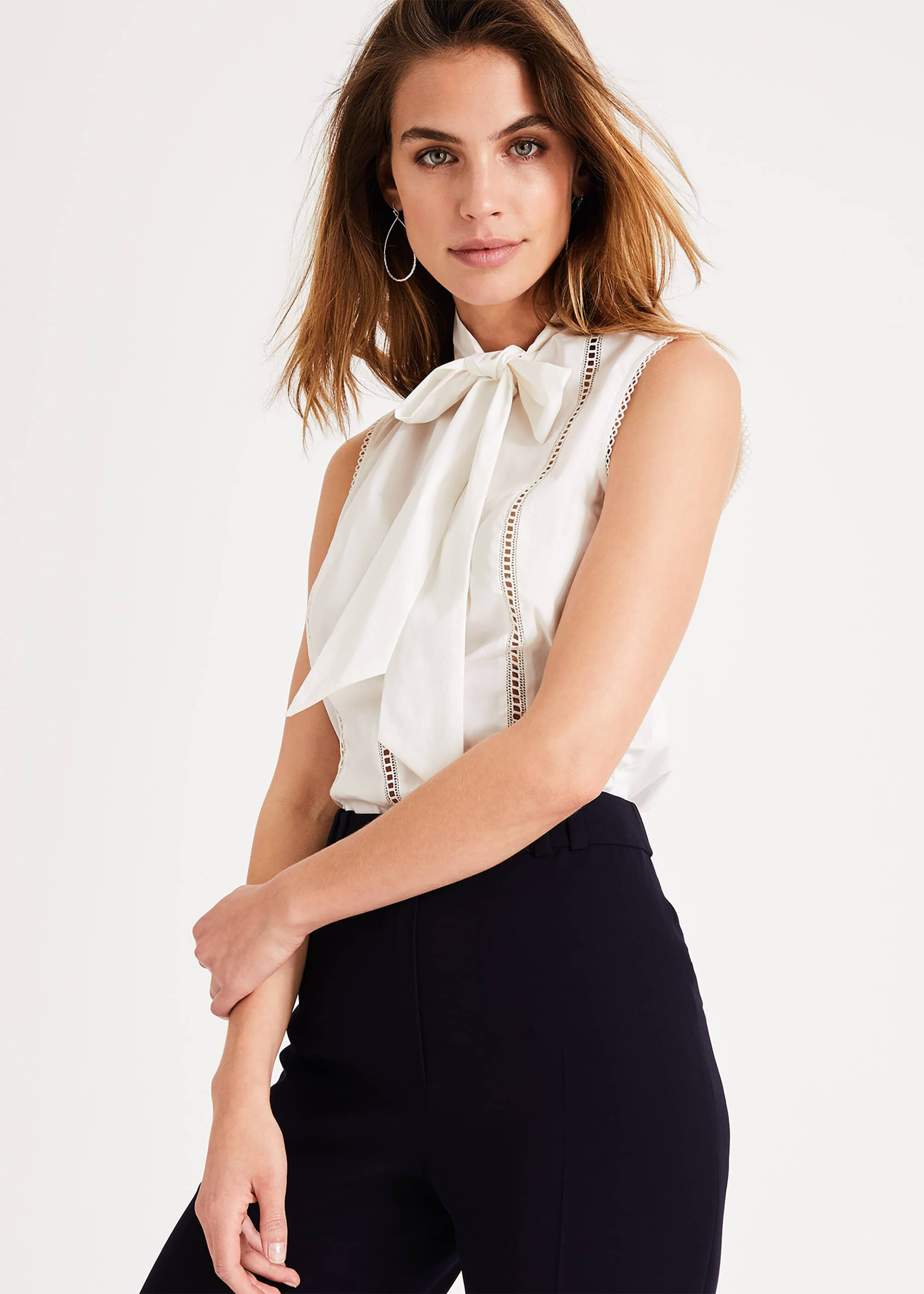 Damsel in a Dress Caydence Cotton Blouse, White
