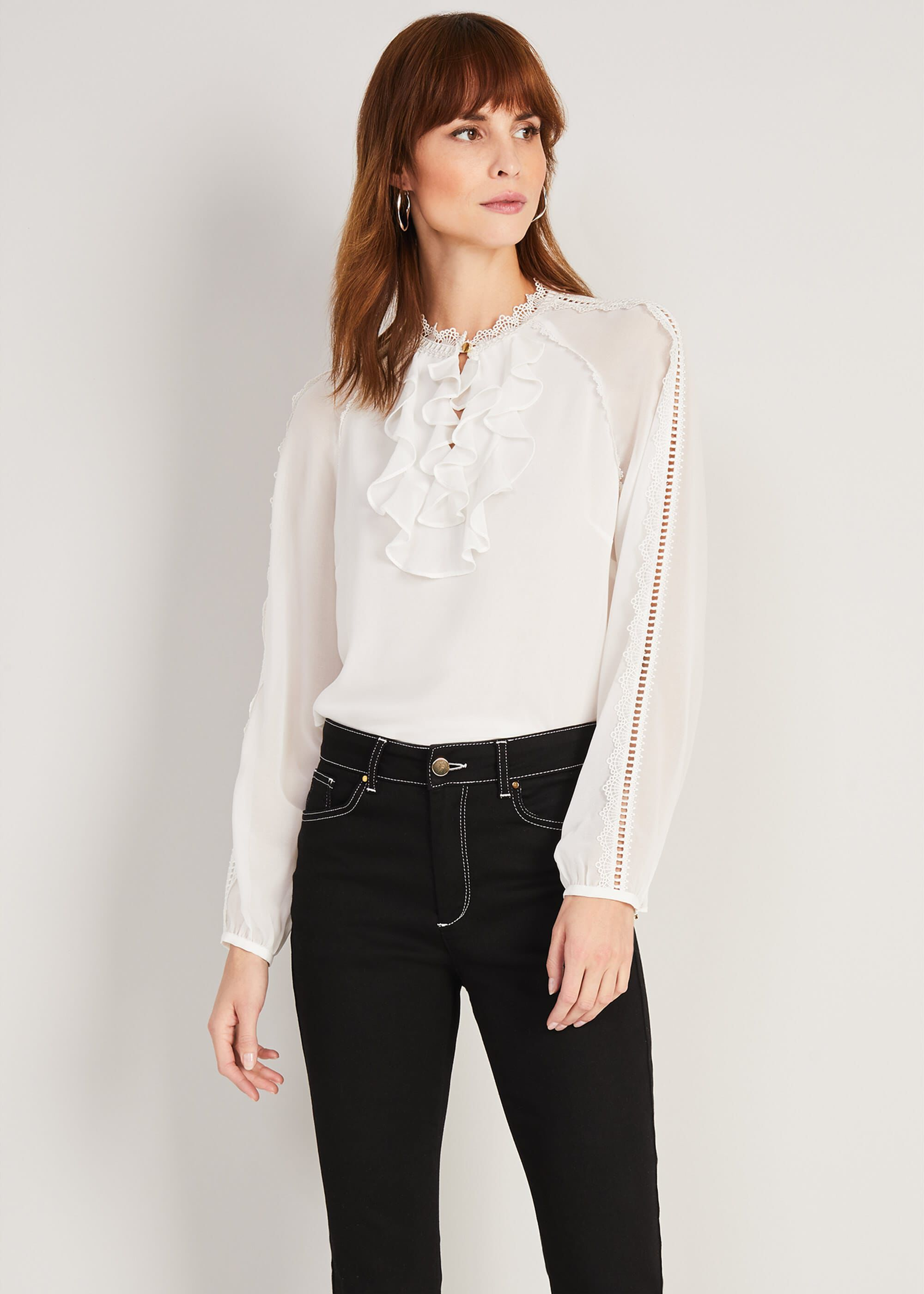 Damsel in a Dress Zania Blouse, White