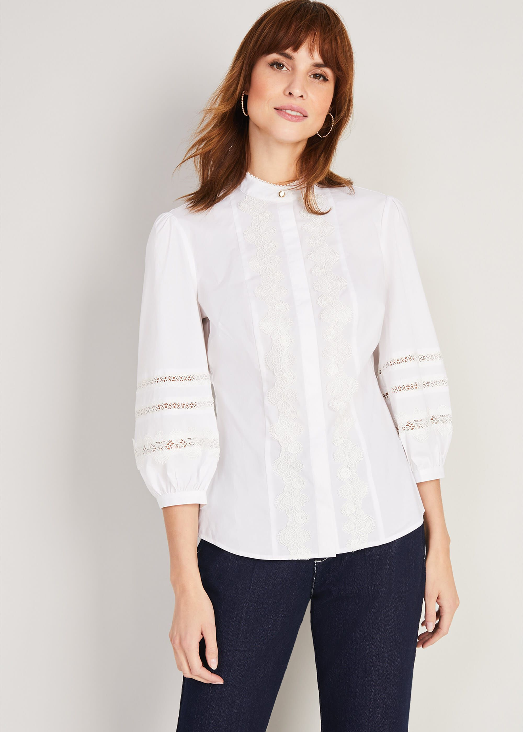 Damsel in a Dress Emersyn Lace Shirt, Cream