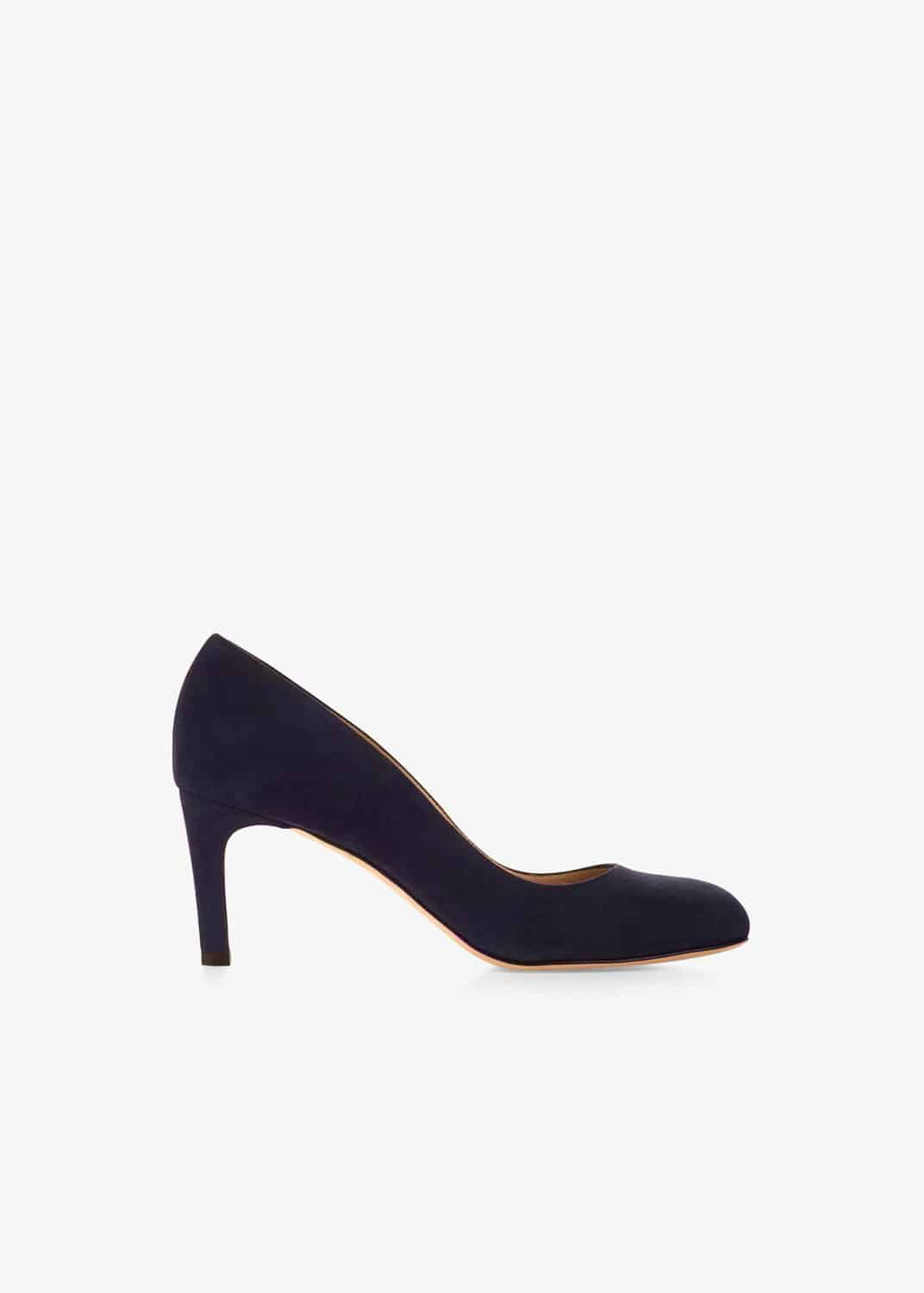 Hobbs Sophia Leather Court Shoes, Blue