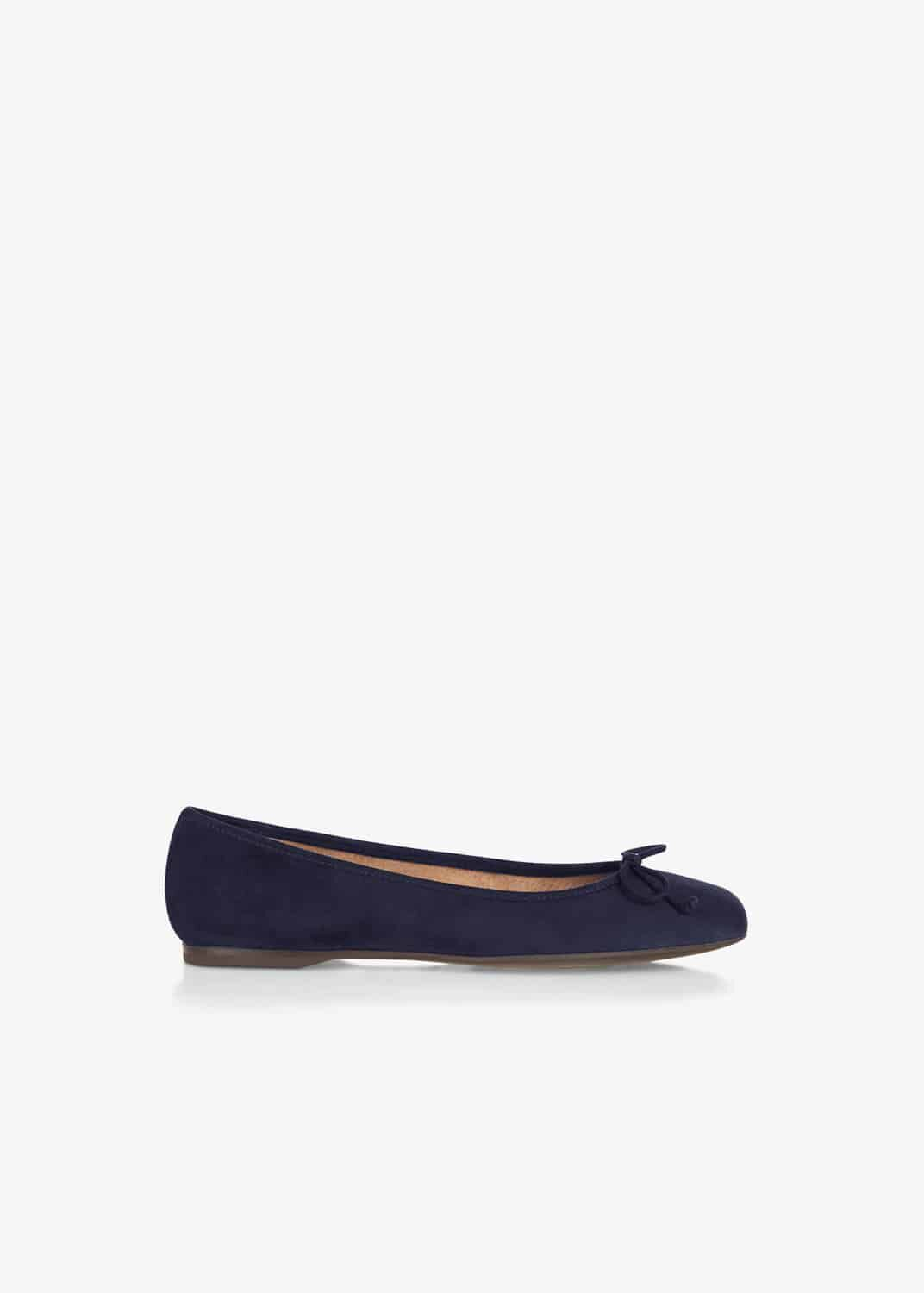 Hobbs Prior Suede Flat Shoes, Blue