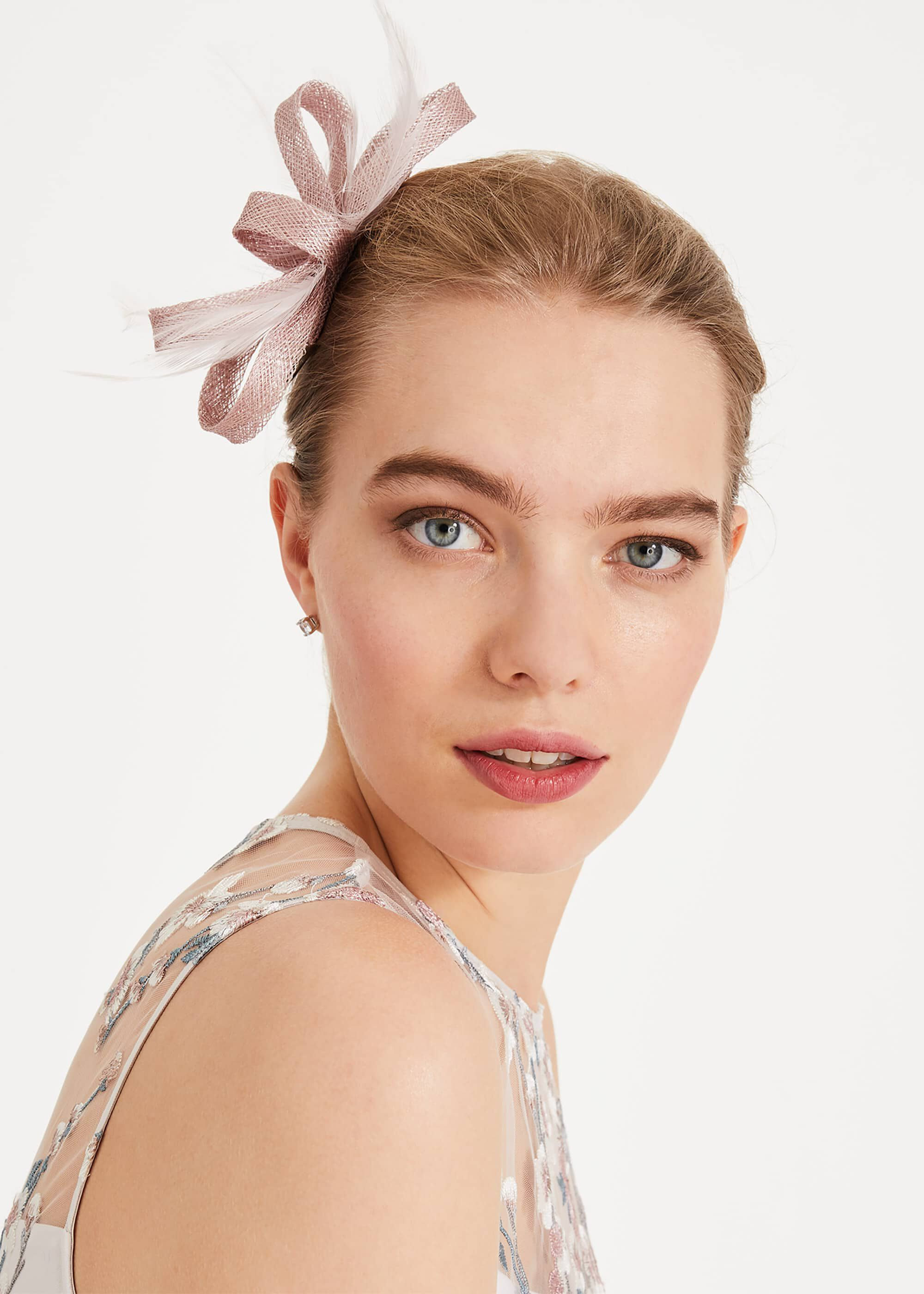 Phase Eight Bethany Large Bow Hairclip, Pink, Fascinator