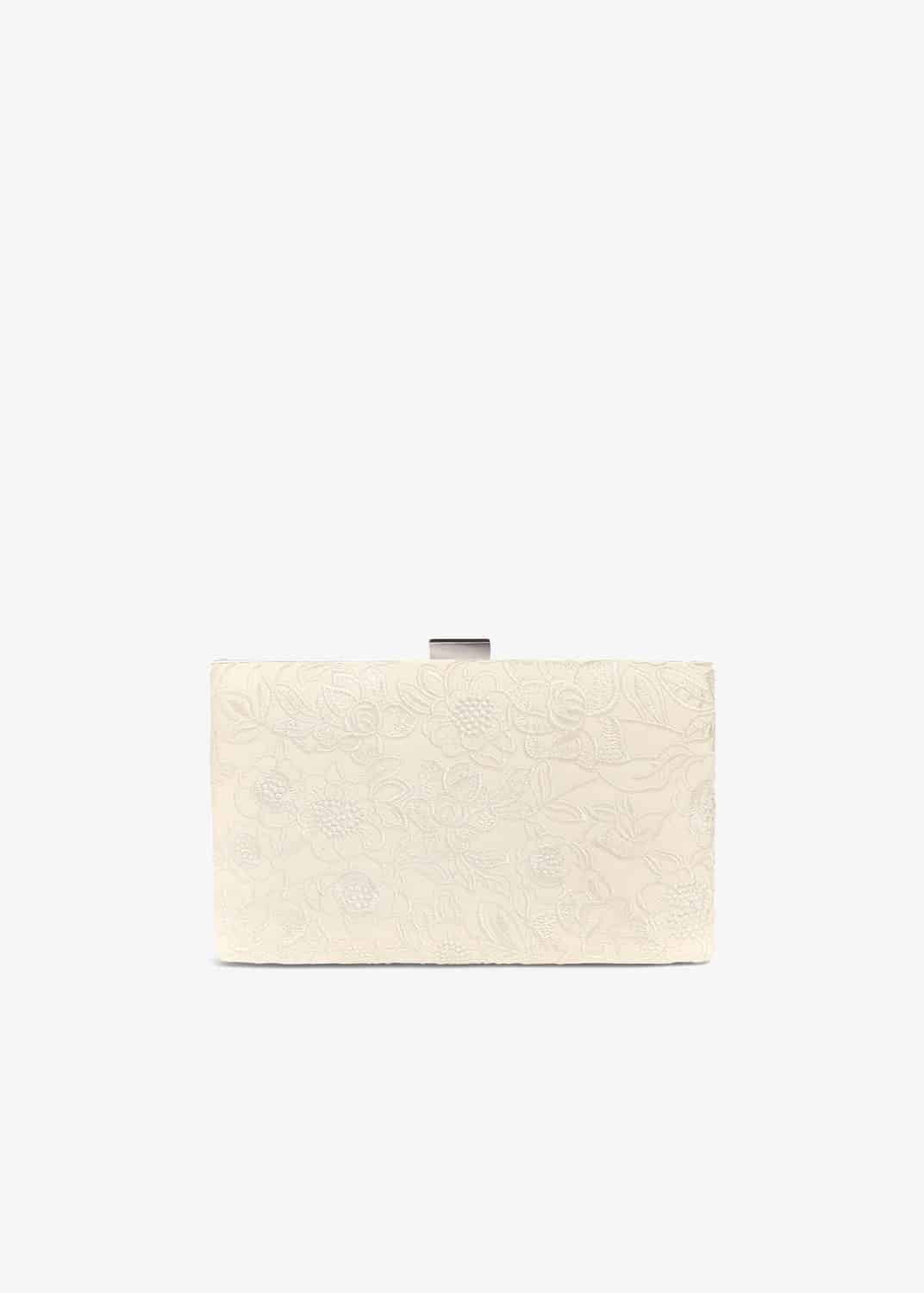 Phase Eight Ceri Embroidered Lace Clutch Bag, Cream, Bag