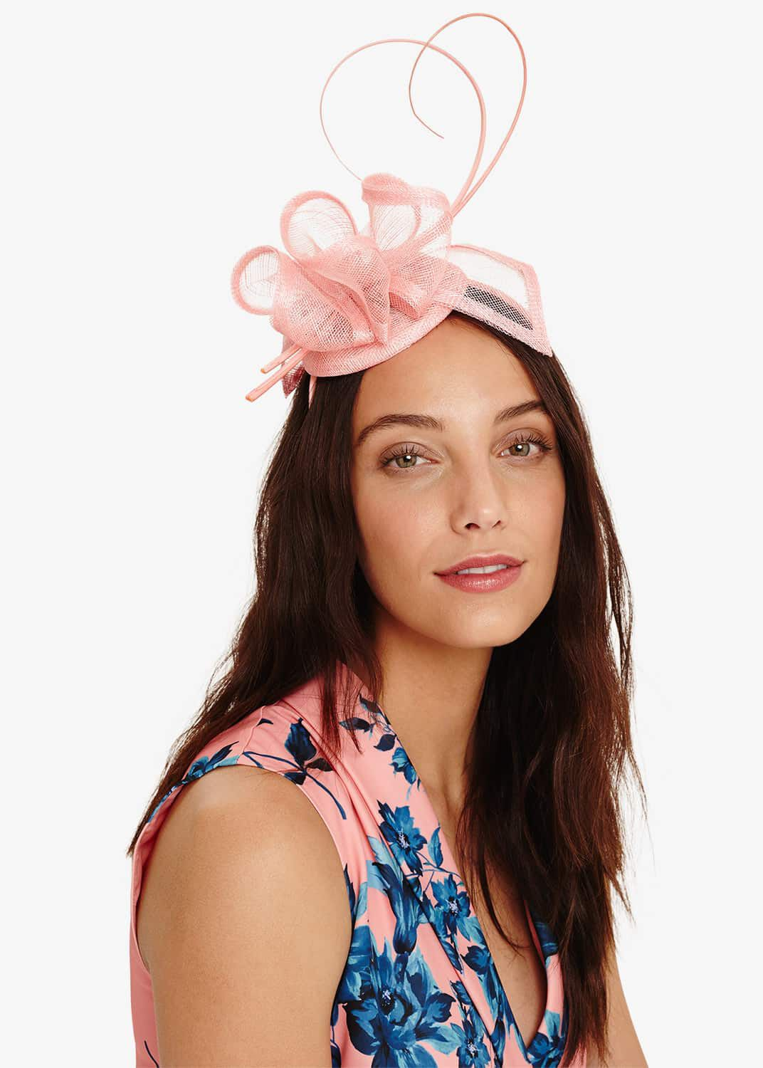 Phase Eight Salma Mini Pillbox Fascinator, Pink, Fascinator