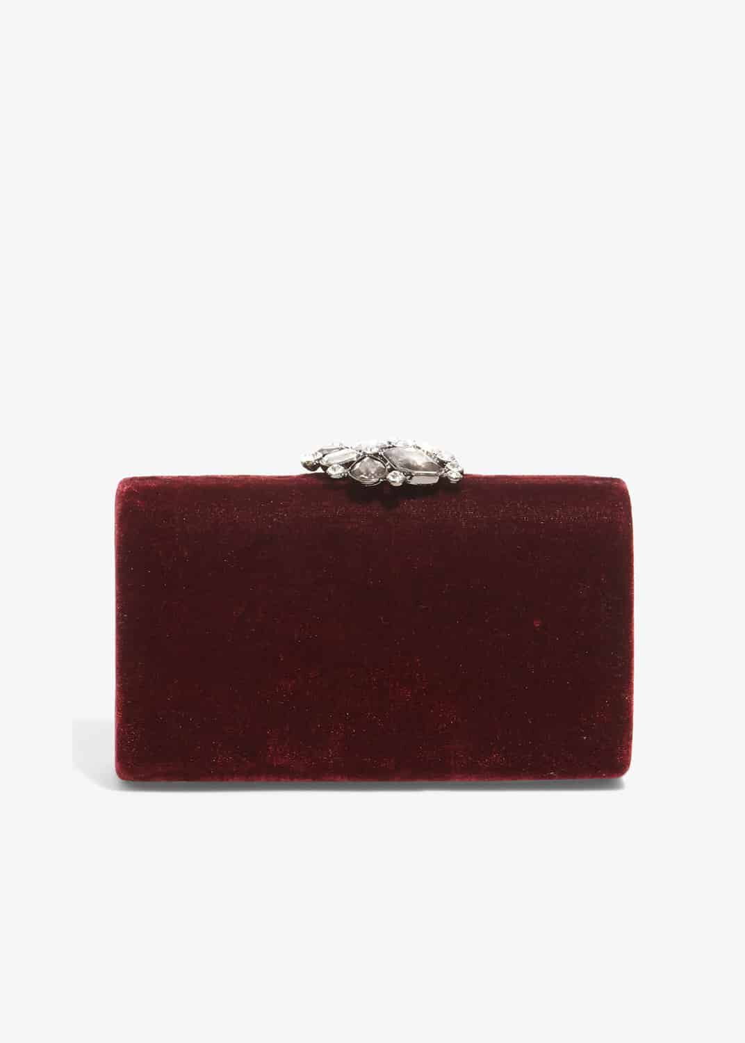Phase Eight Juliet Jewel Top Clutch Bag, Red, Bag
