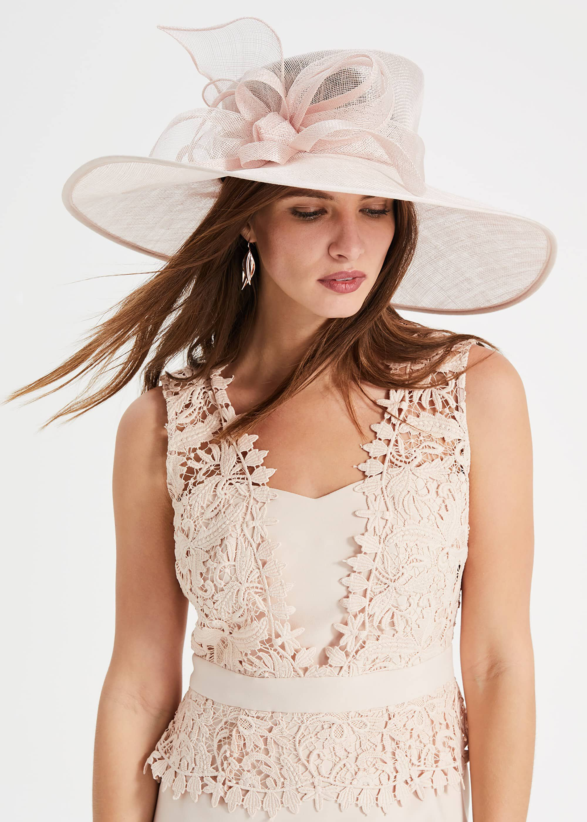 Phase Eight Celestine Bow Trim Hat, Pink, Hat