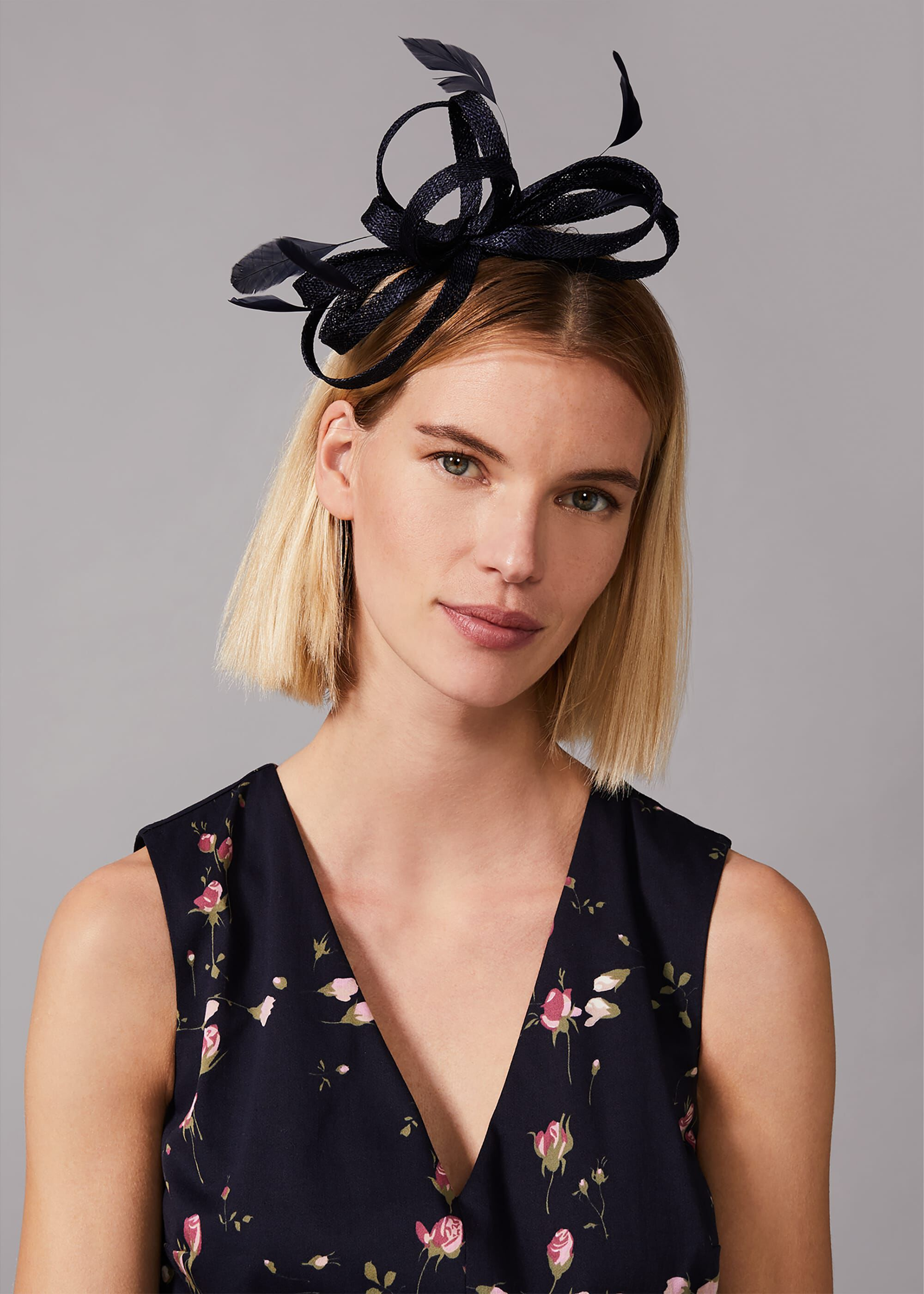 Phase Eight Tabitha Twist Headband, Blue, Fascinator