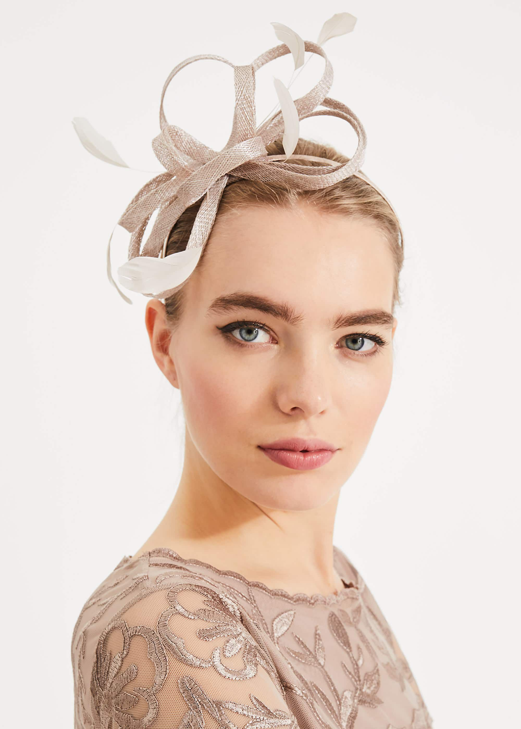 Phase Eight Tabitha Twist Headband, Brown, Fascinator
