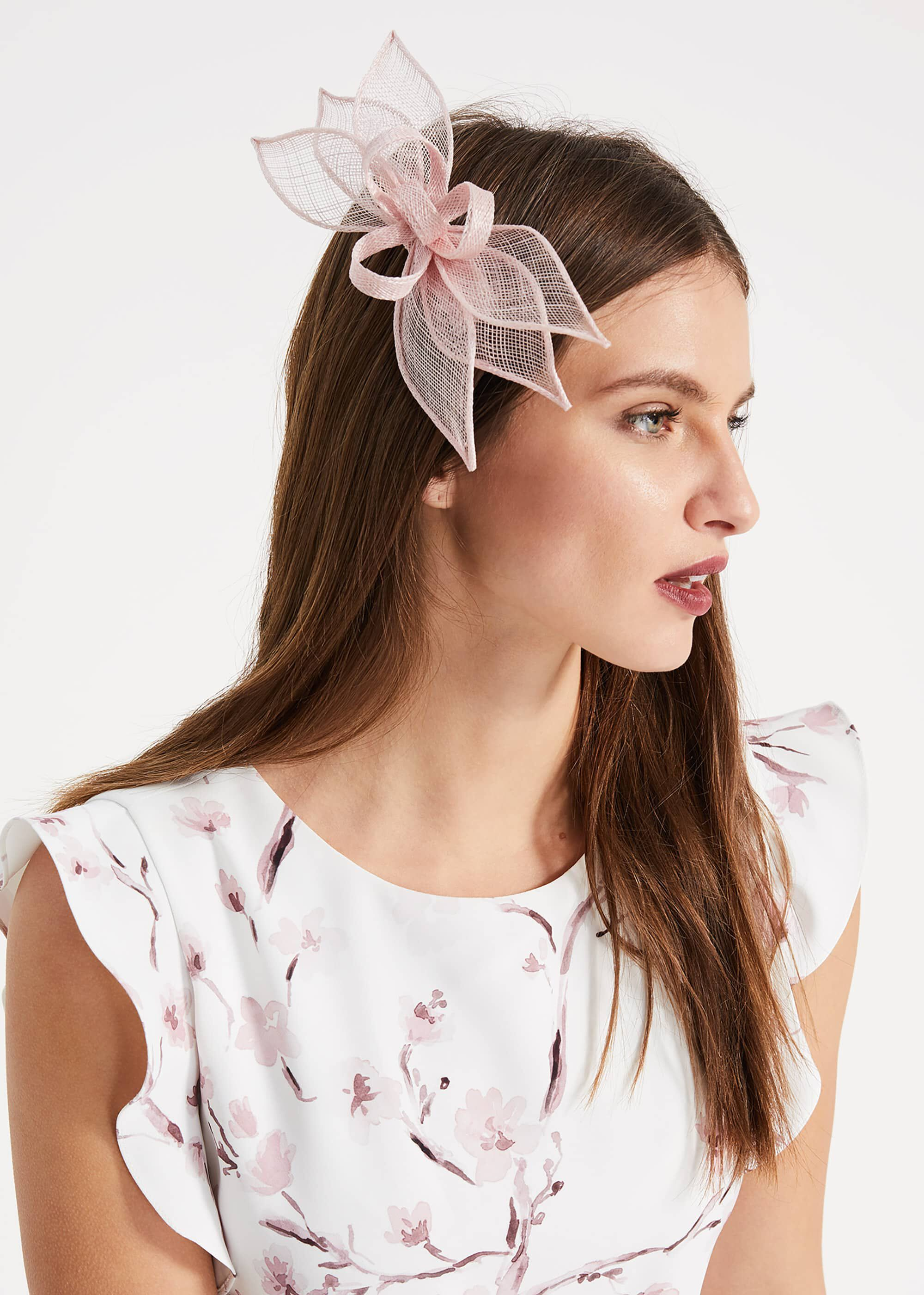 Phase Eight Viola Flower Hair Clip, Pink, Fascinator