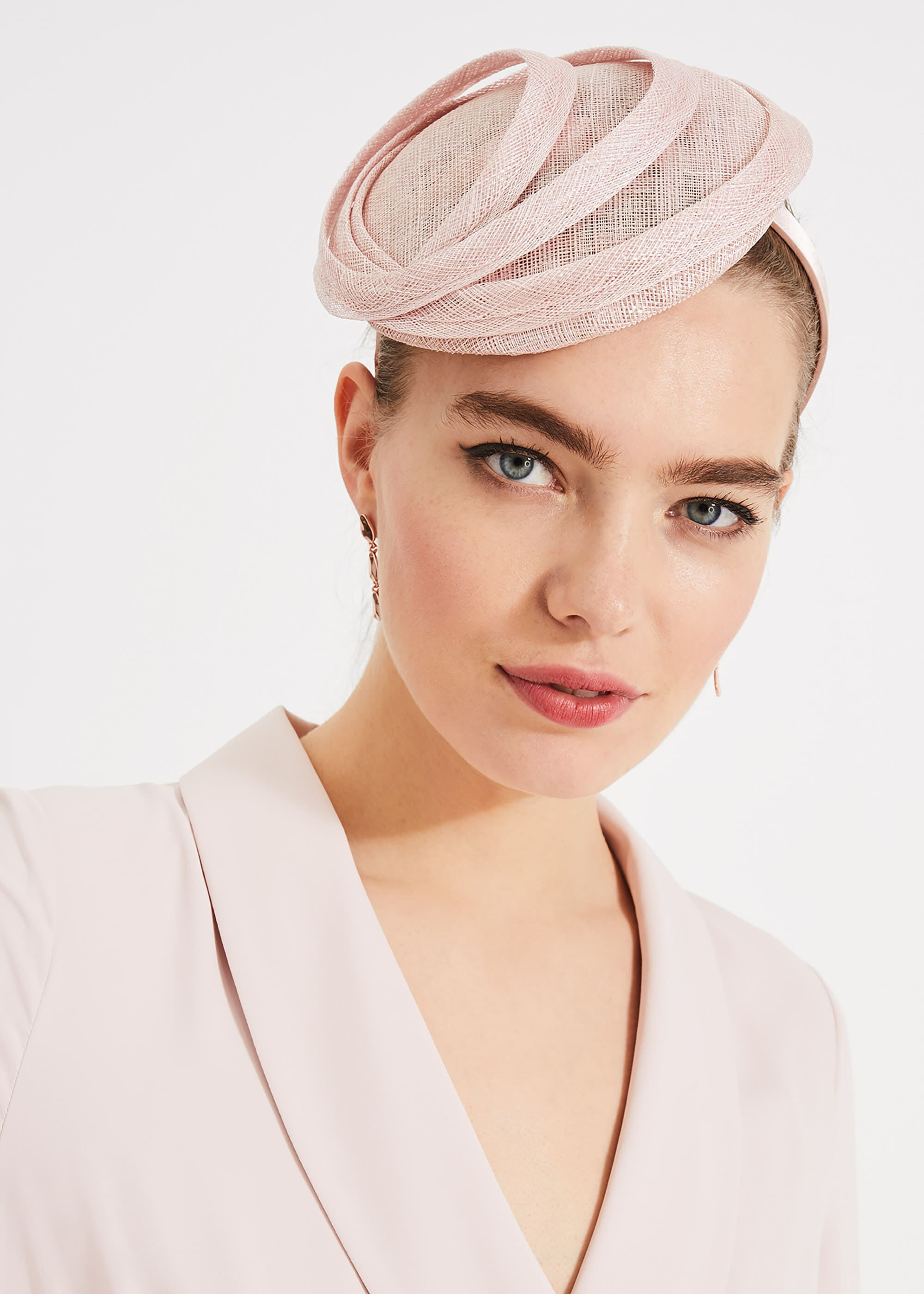 Phase Eight Sylvia Ring Fascinator, Pink, Fascinator