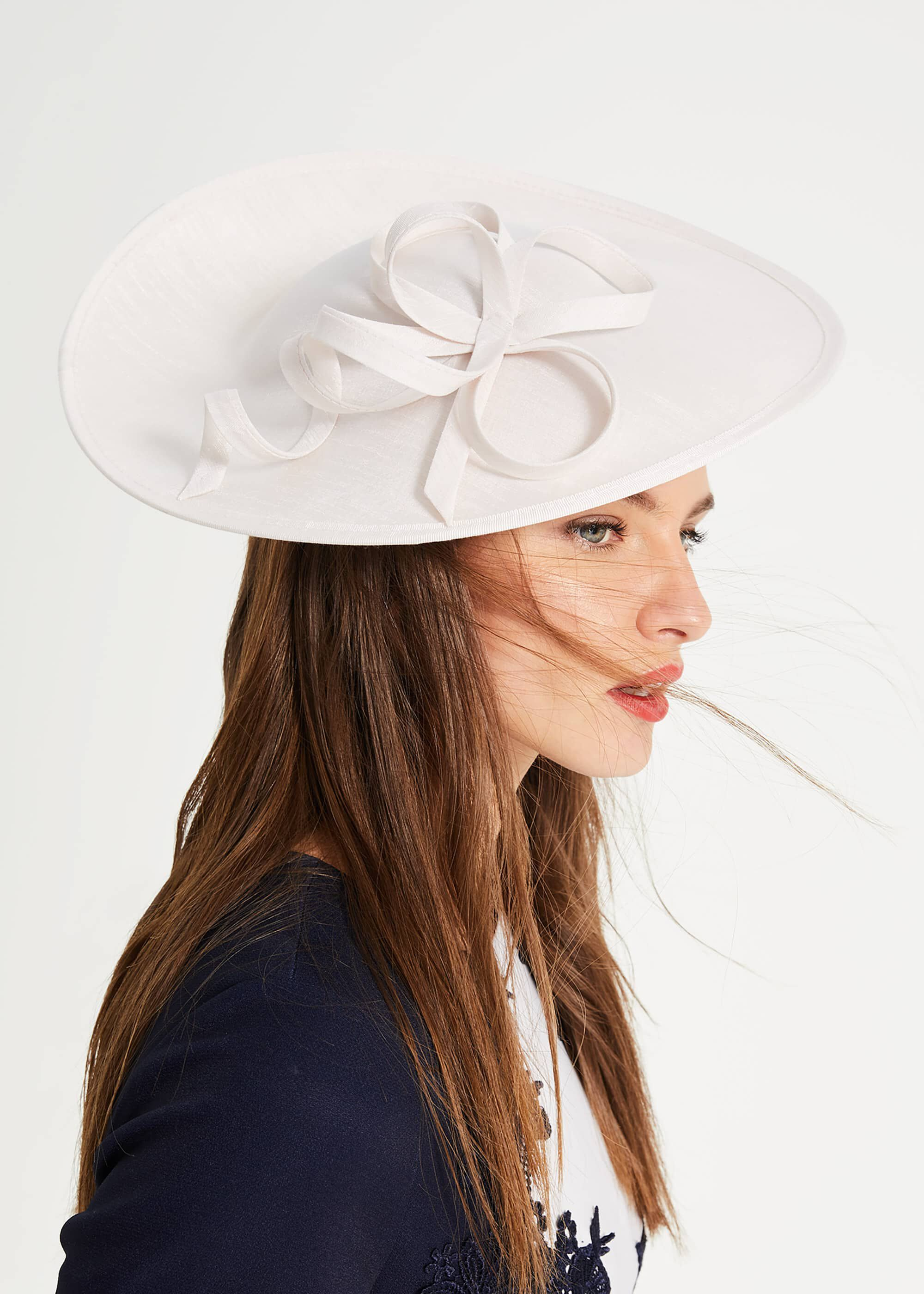 Phase Eight Pia Twist Disc Fascinator, Cream, Fascinator