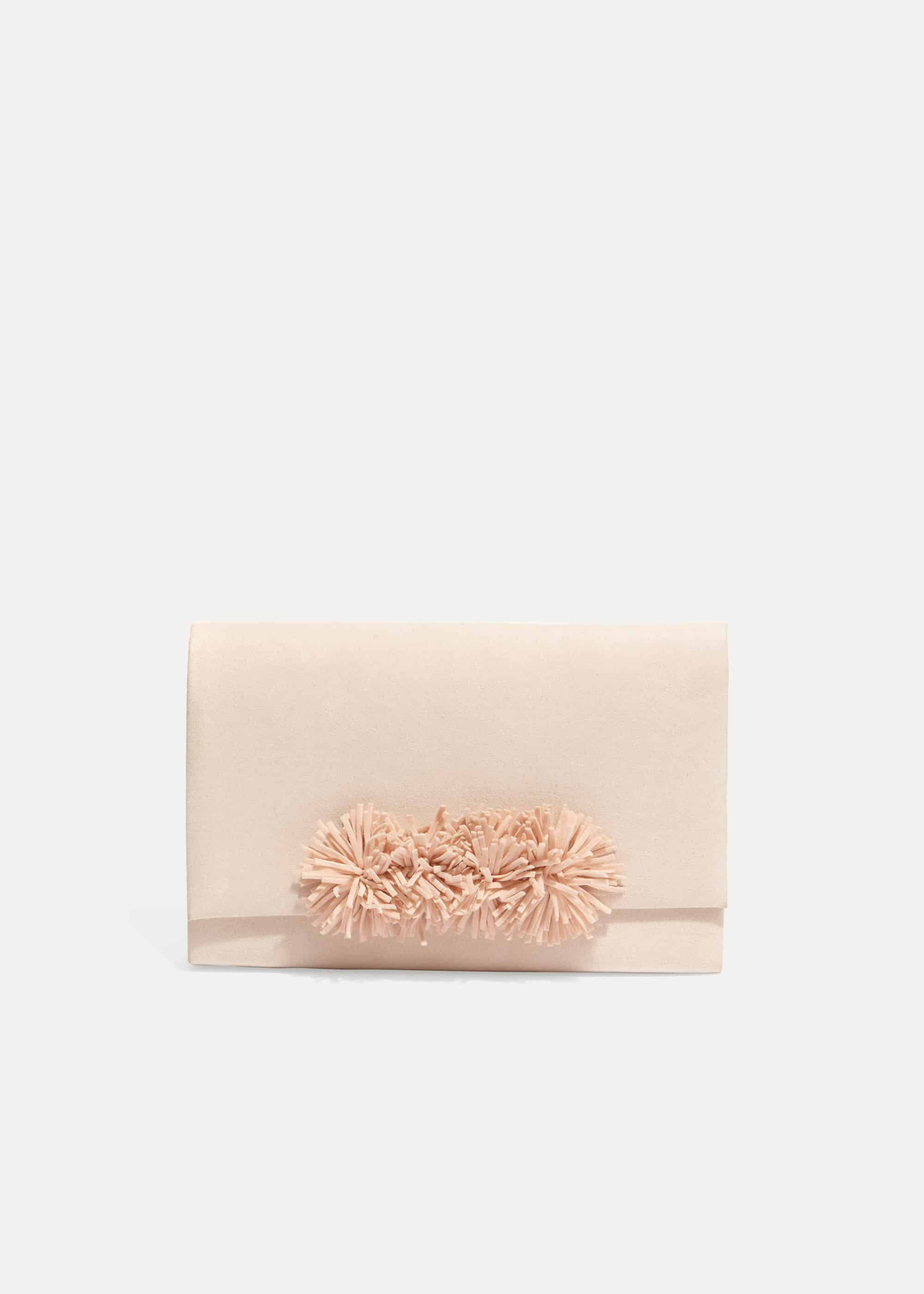 Phase Eight Tammy Tassel Clutch Bag, Pink, Bag