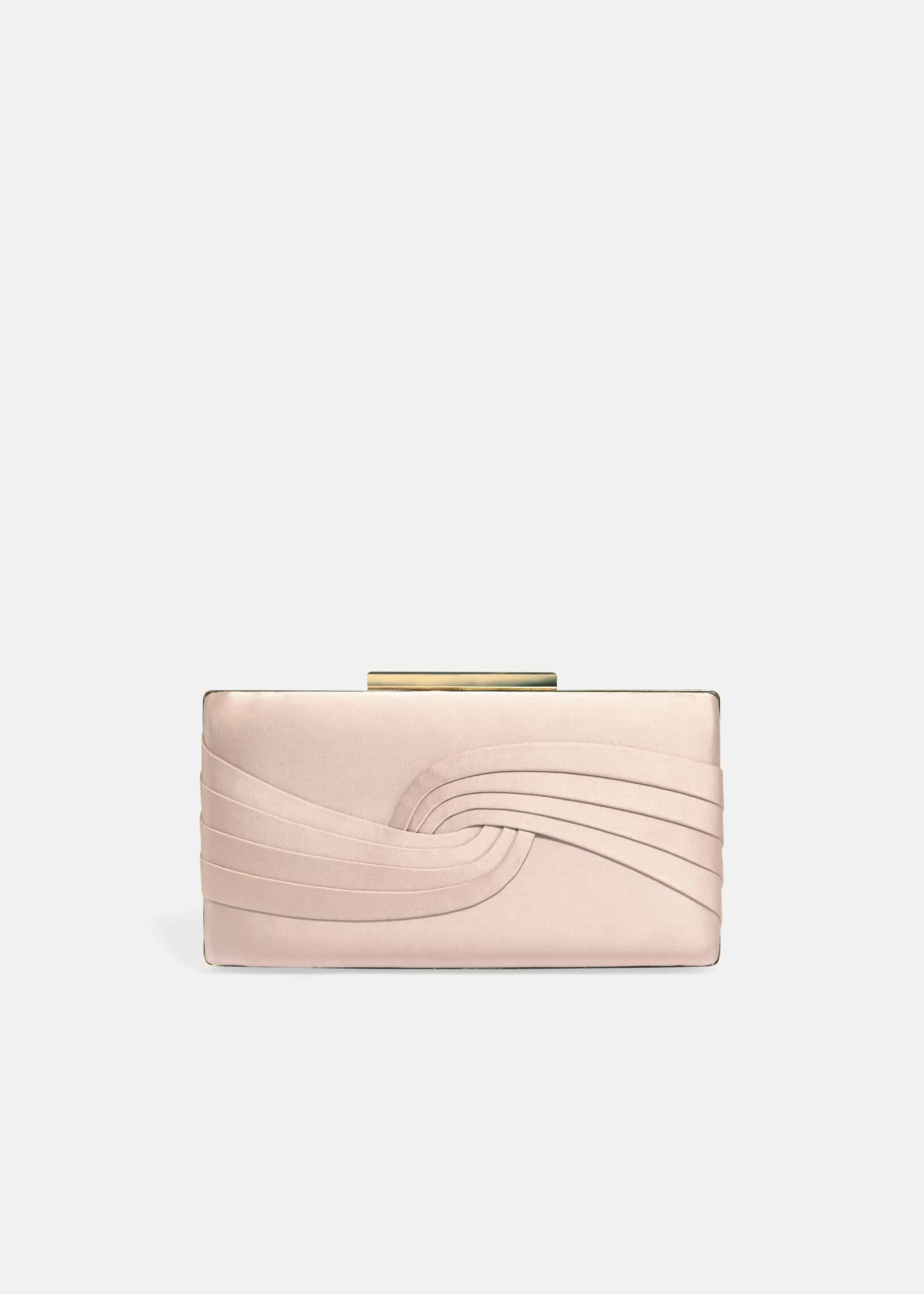 Phase Eight Rosie Satin Clutch Bag, Pink, Bag