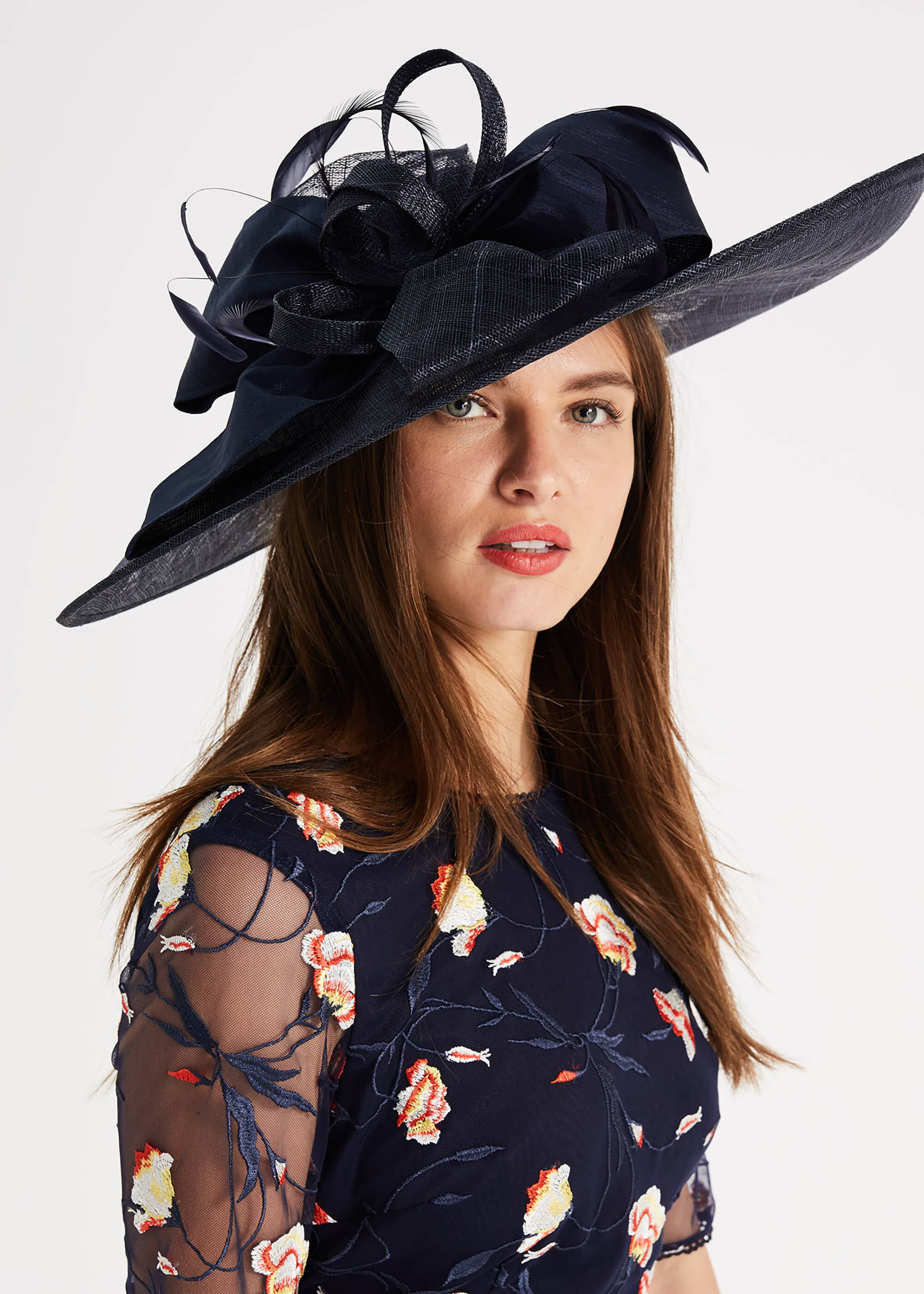 Phase Eight Trudy Large Disc Fascinator, Blue, Fascinator