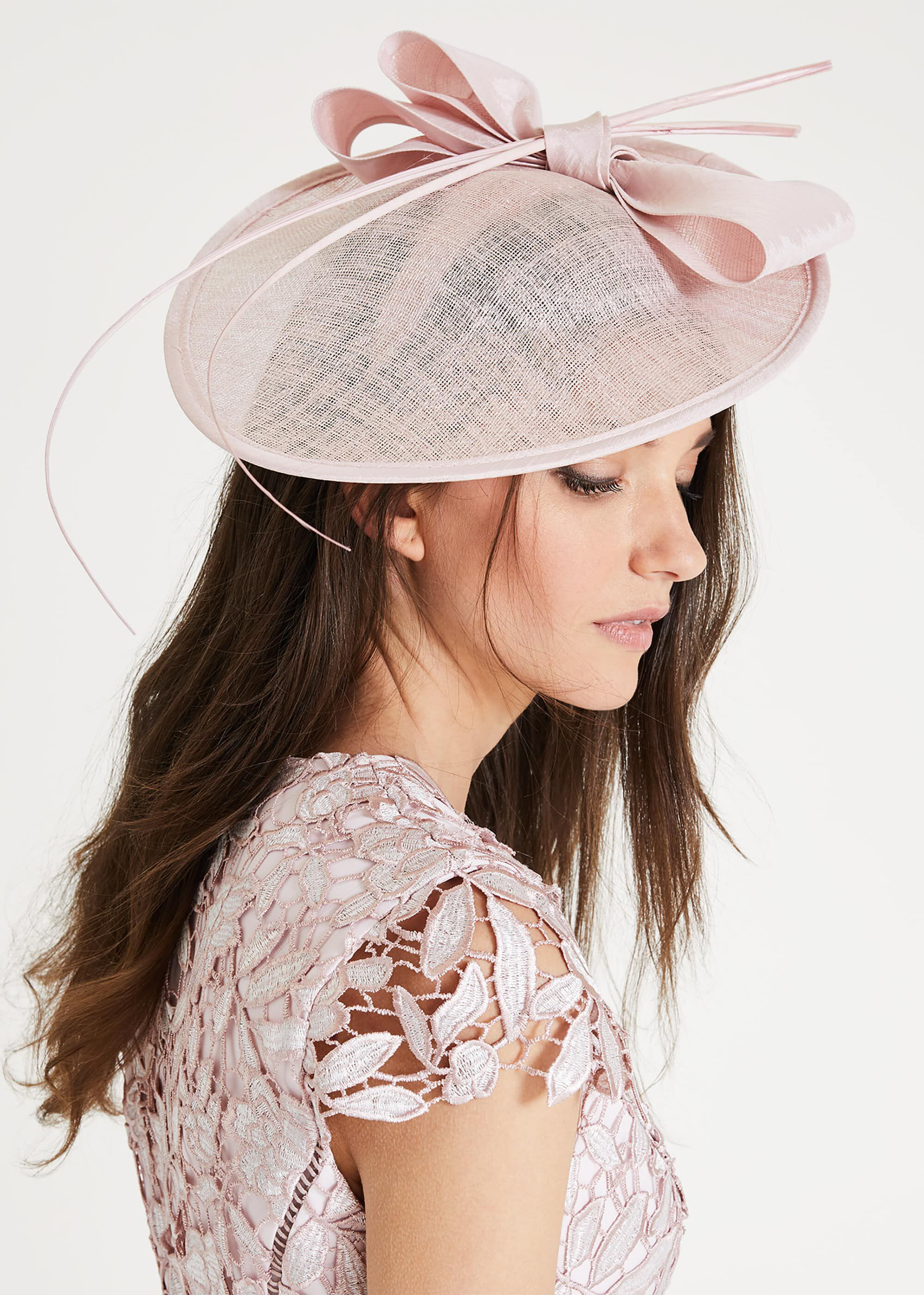 Phase Eight Winnie Oval Disc Fascinator, Pink, Fascinator