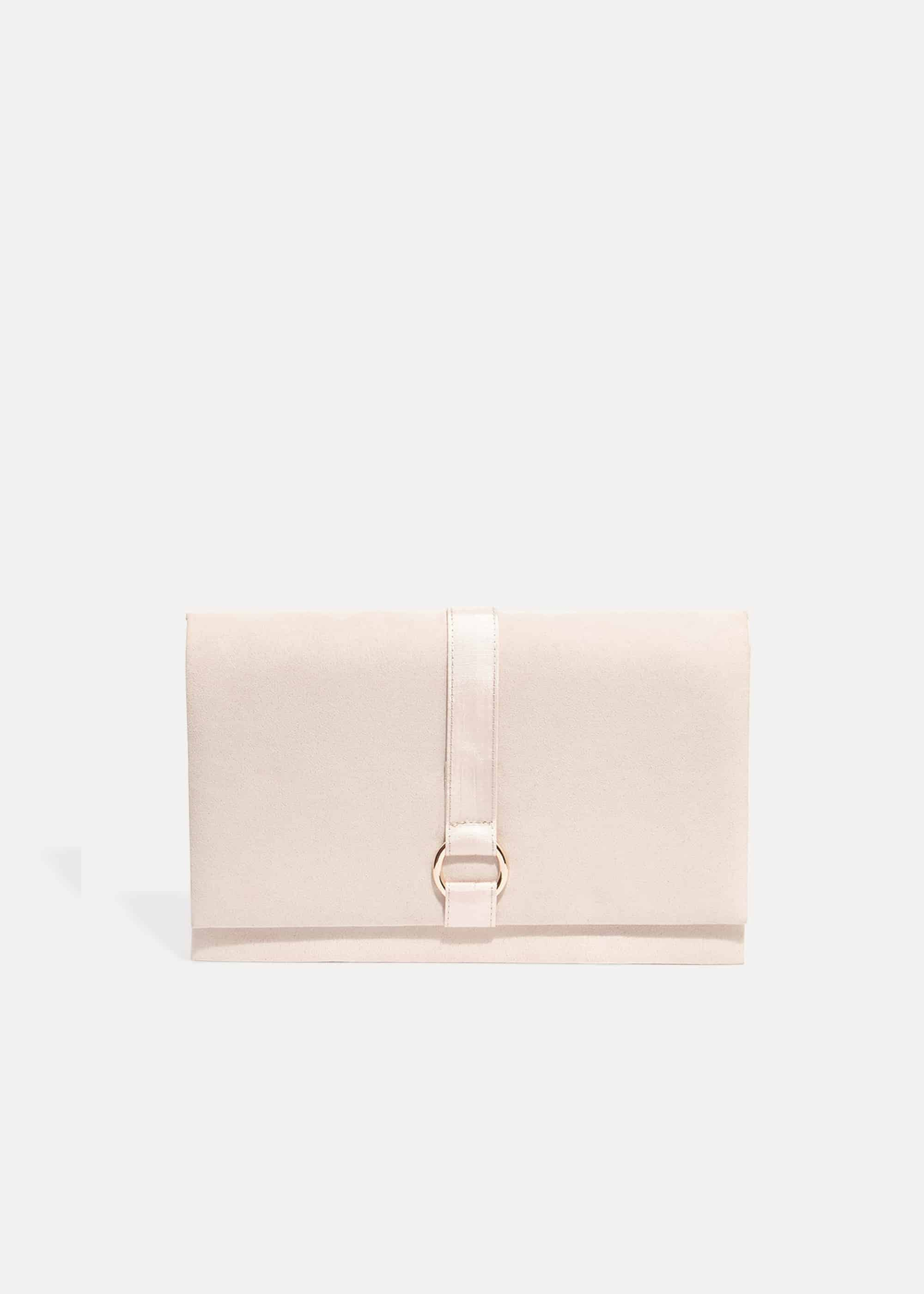 Phase Eight Giselle Grosgrain Trim Clutch Bag, Pink, Bag