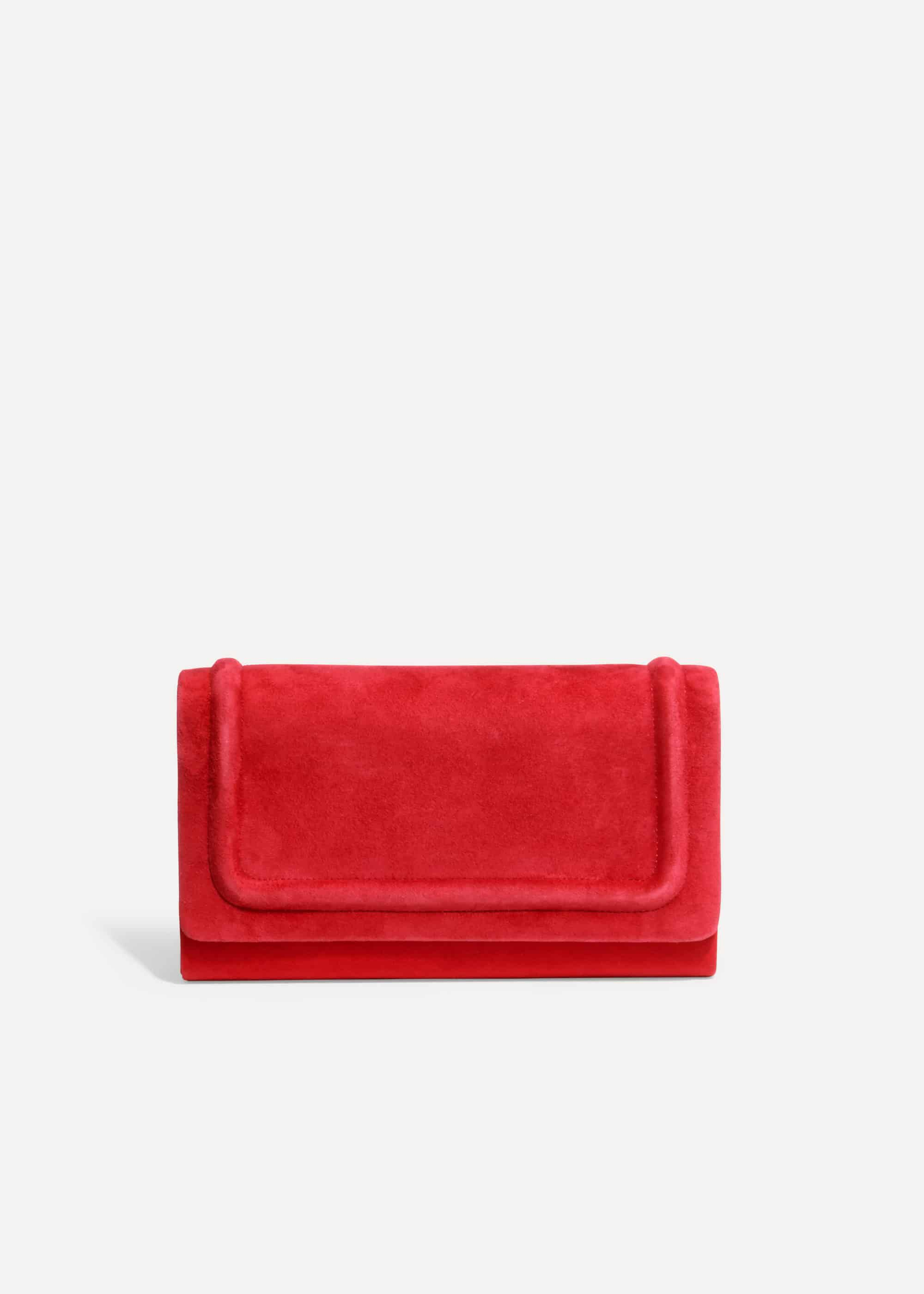Phase Eight Faye Clutch Bag, Red, Bag
