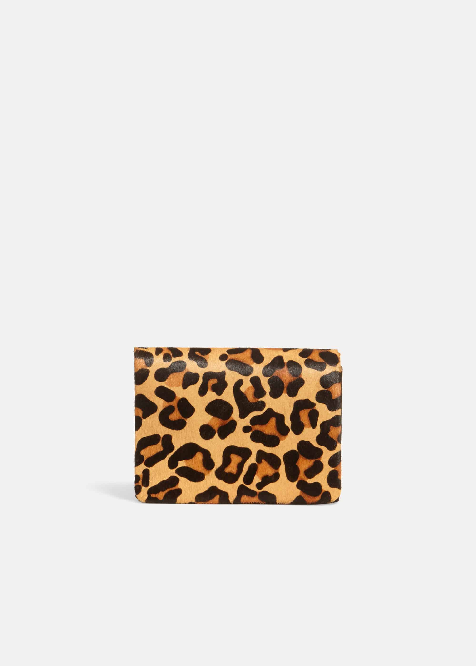 Phase Eight Lo Leopard Print Clutch, Multicoloured, Bag