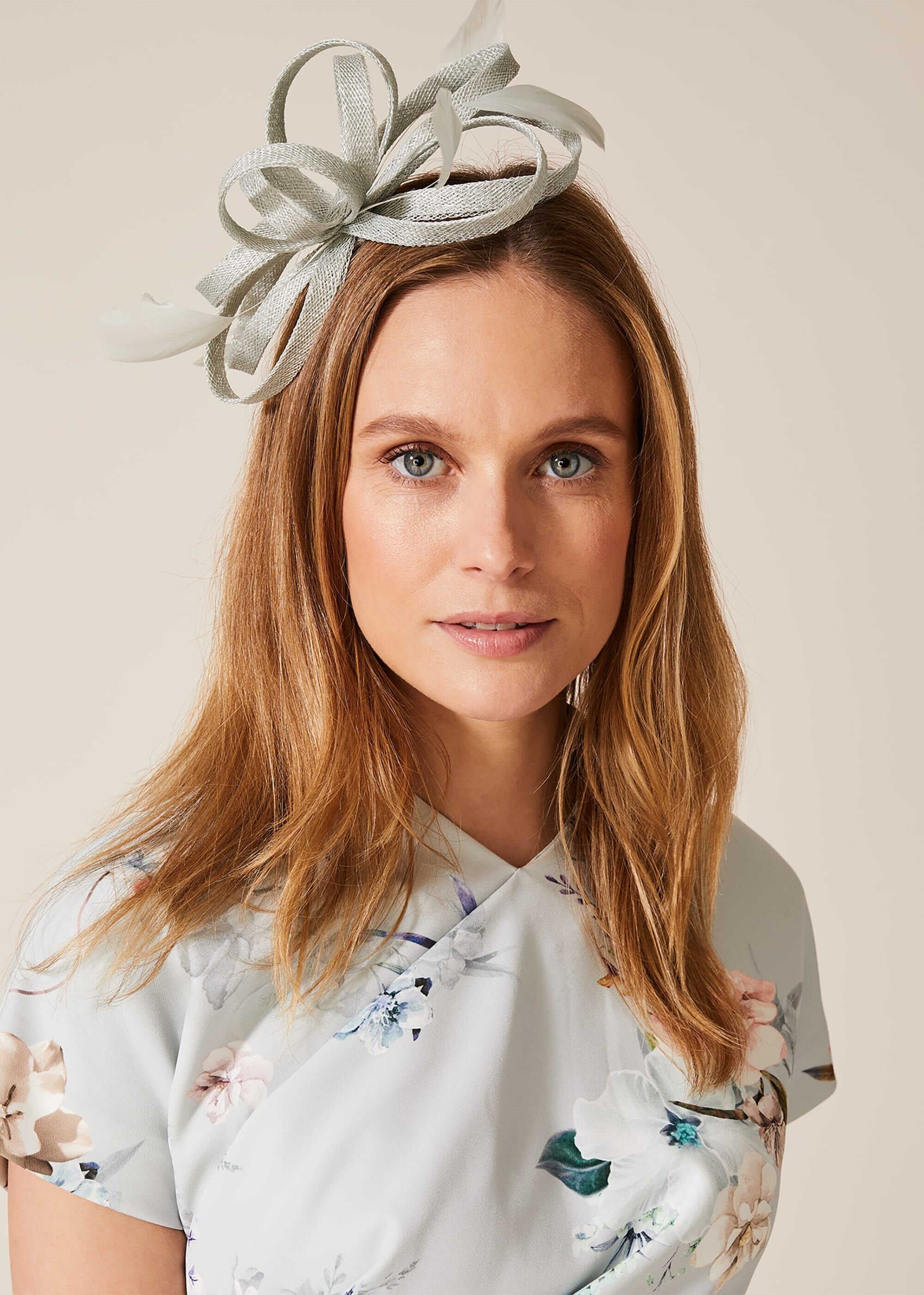 Phase Eight Tabitha Twist Detail Headband, Blue, Fascinator